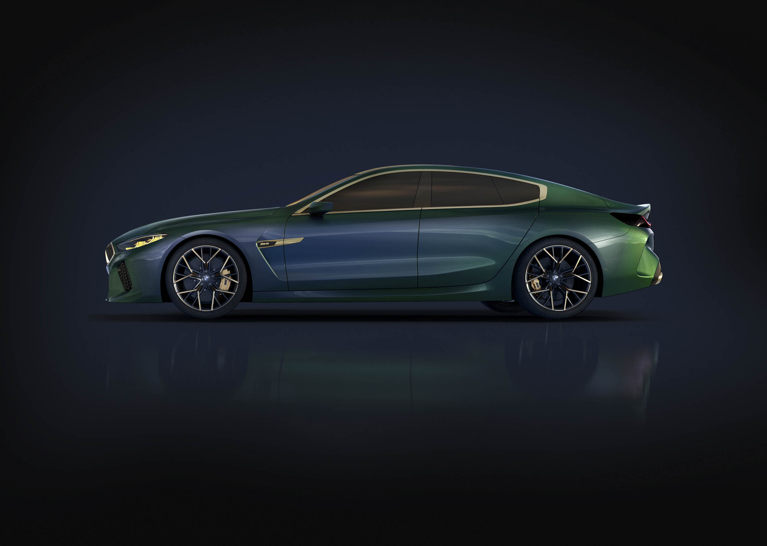 BMW M8 Gran Coupe profile