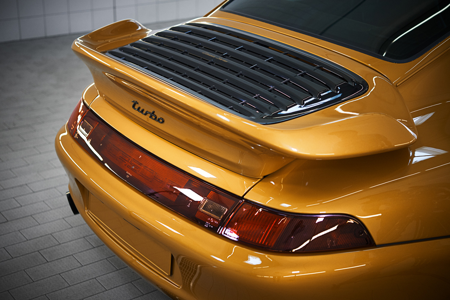 "Porsche ""Project Gold"" 993 Turbo rear tail wing"