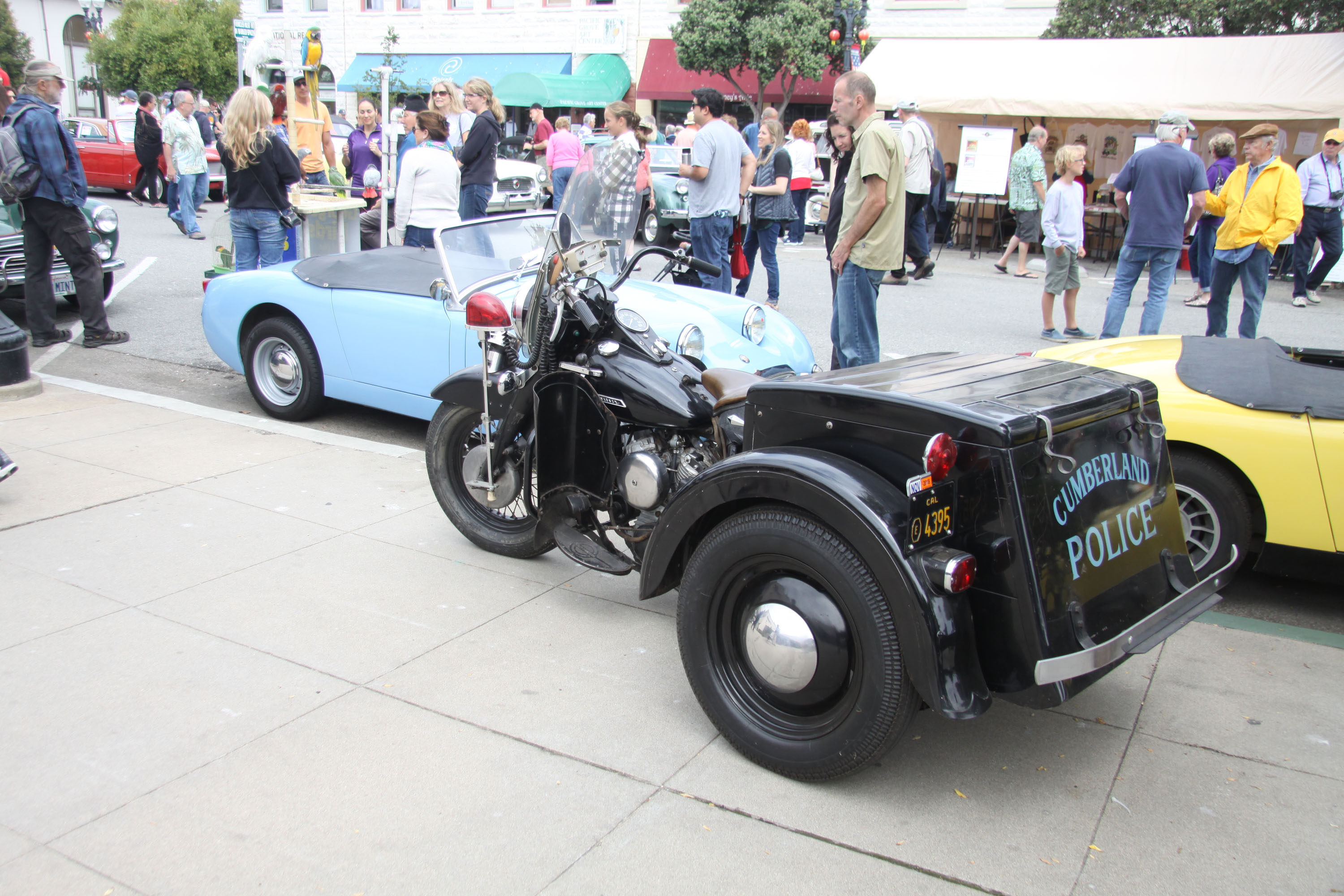 little car show police trike sprite blue