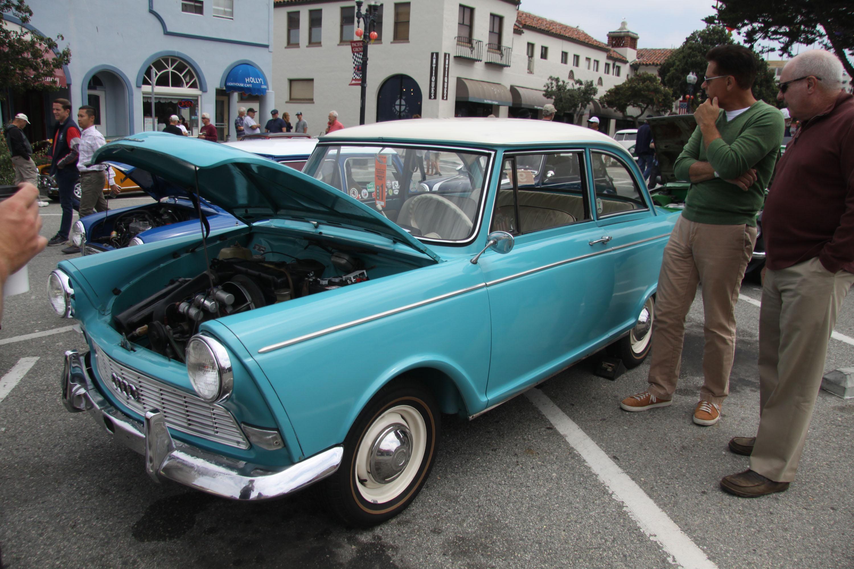 little car show peugeout blue front