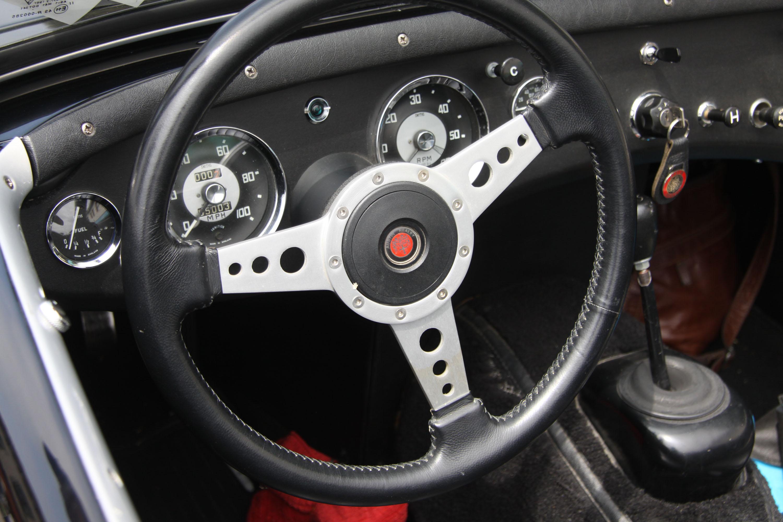 little car show austin healey steering wheel