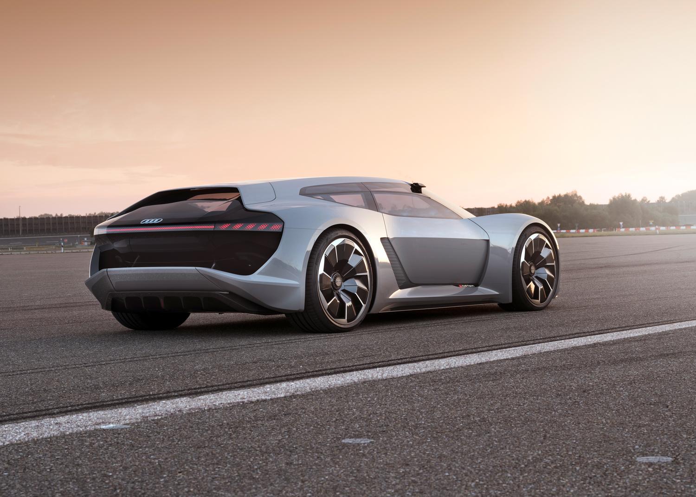 Audi PB 18 e-tron concept car rear 3/4