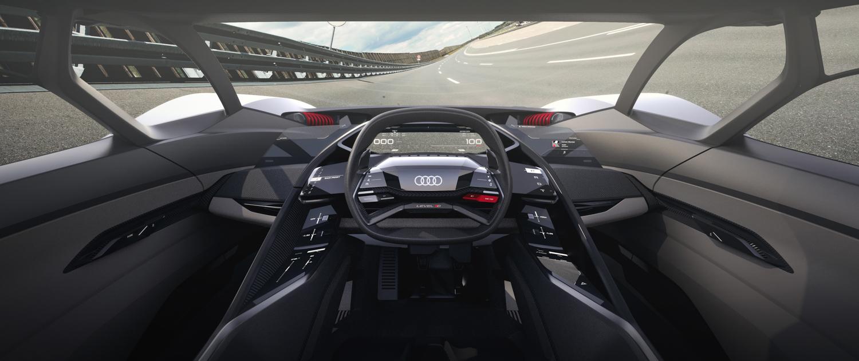 Audi PB 18 e-tron concept car sliding cockpit