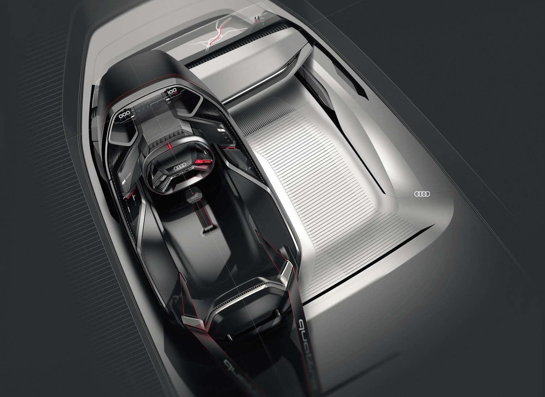 Audi PB 18 e-tron concept car open door