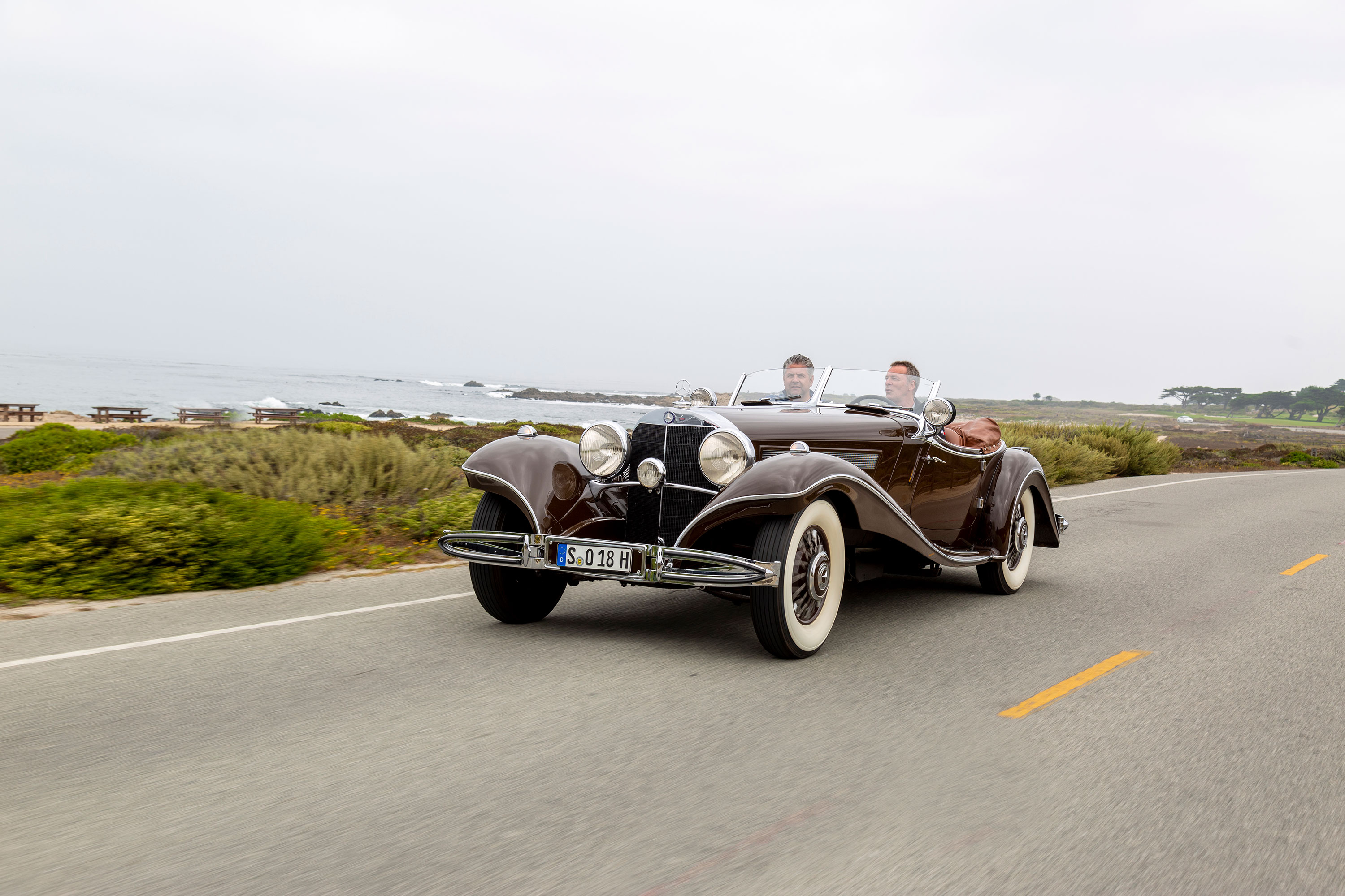 1935 Mercedes-Benz 540K driving front 3/4