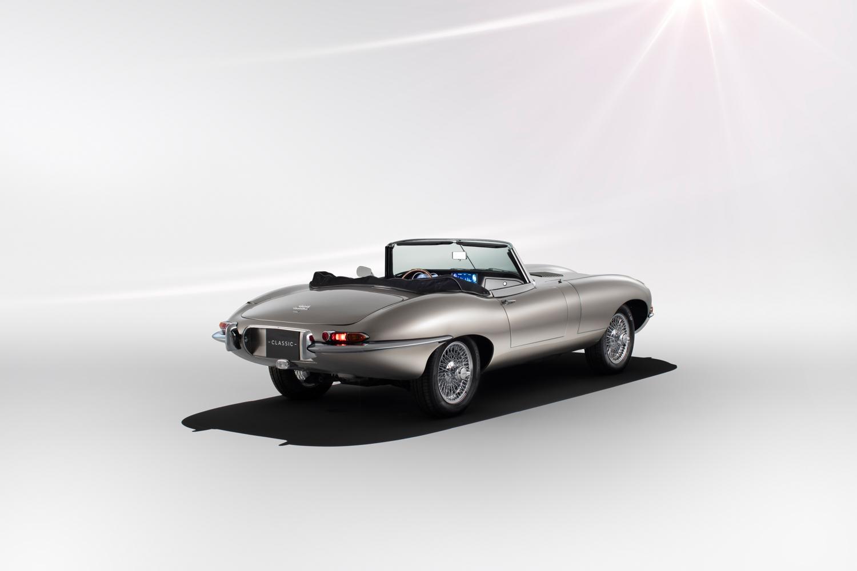 Jaguar E-type Zero rear 3/4