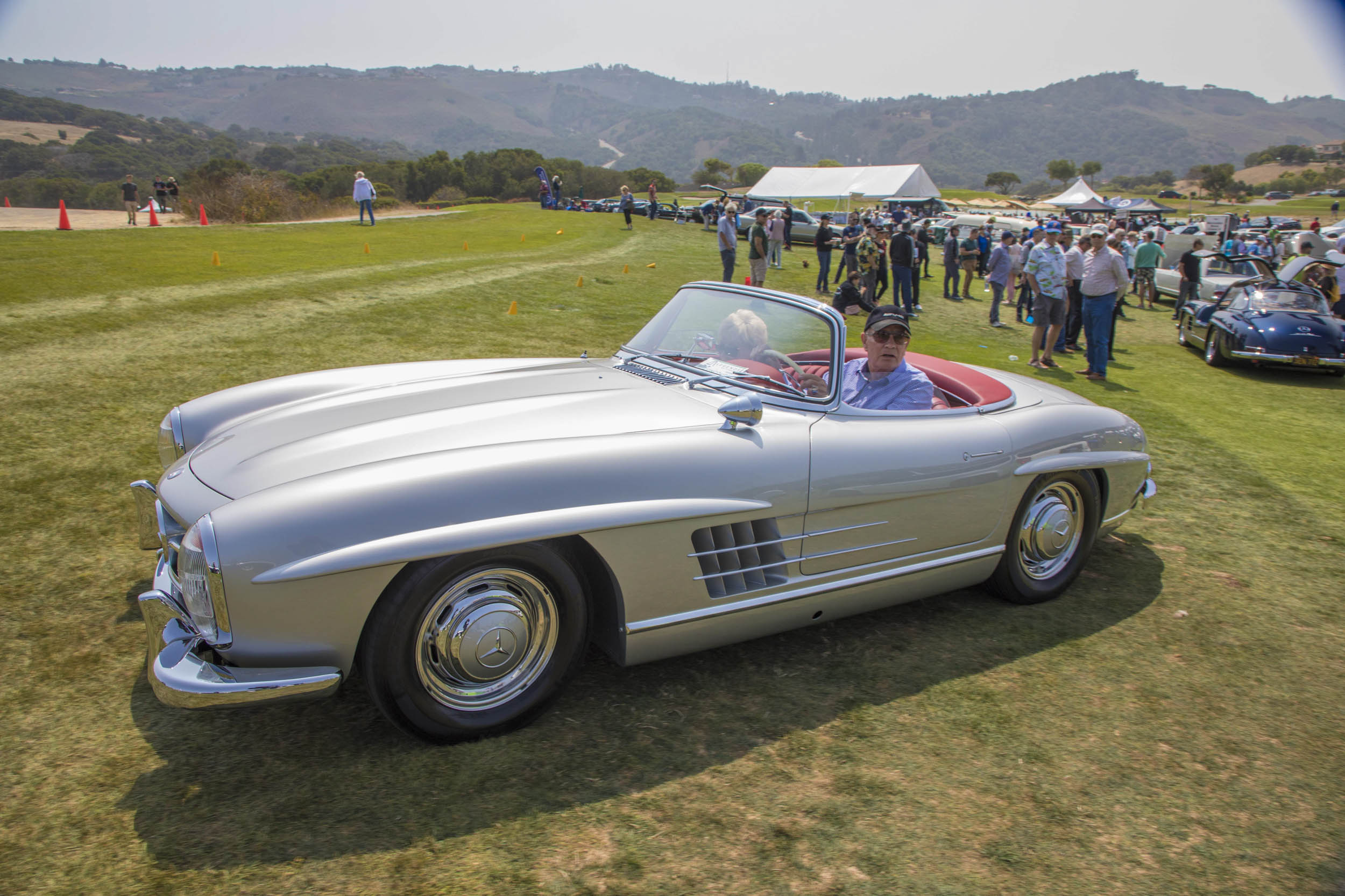 This gorgeous silver Mercedes-Benz 300SL roadster stood out in the Legends crowd not only for its flawless presentation but also for its dignified owners. It won its class, and deservedly so.