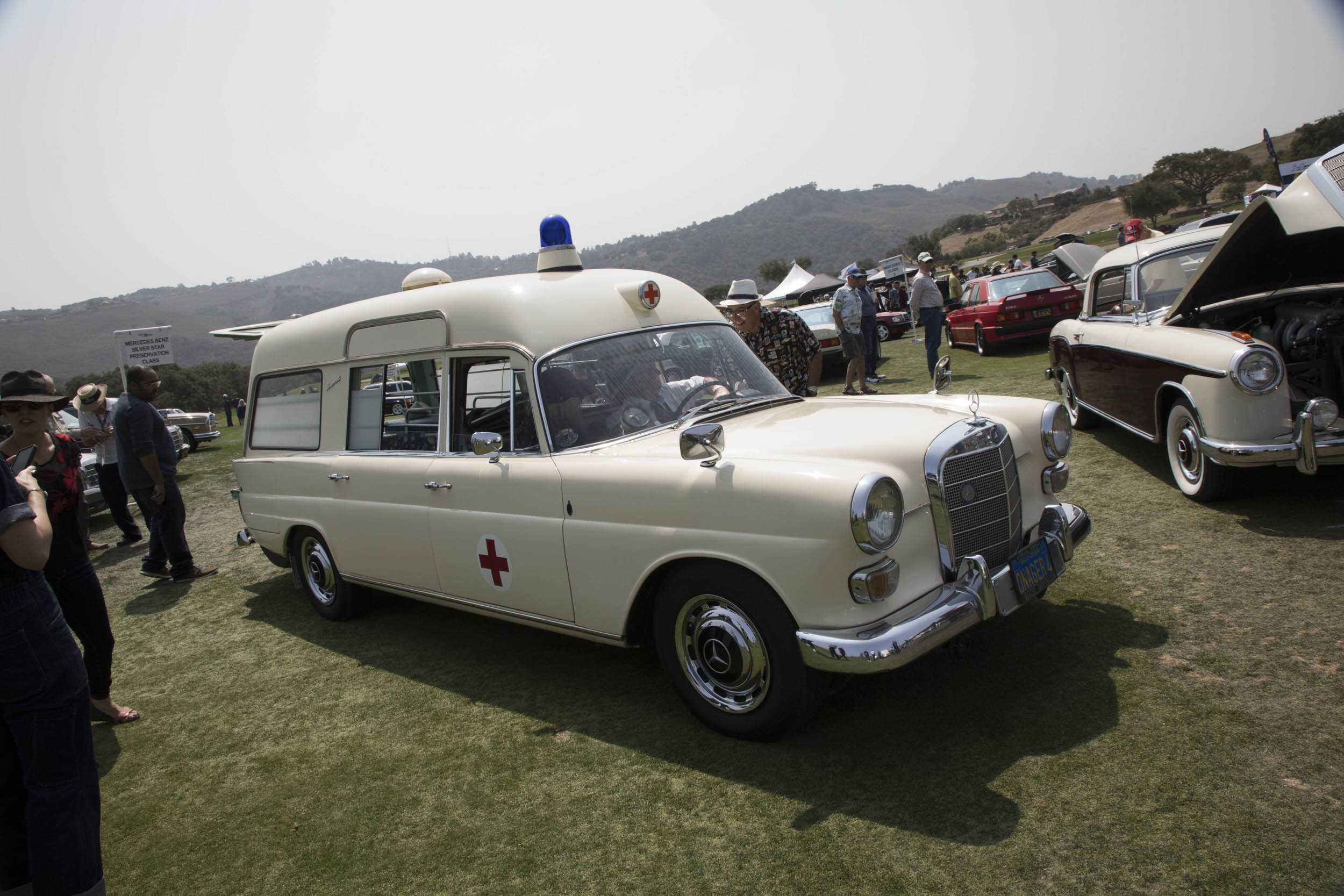 Less dignified, perhaps, was this Mercedes-Benz ambulance, which will likely never get within 1000 feet of a normal concours.