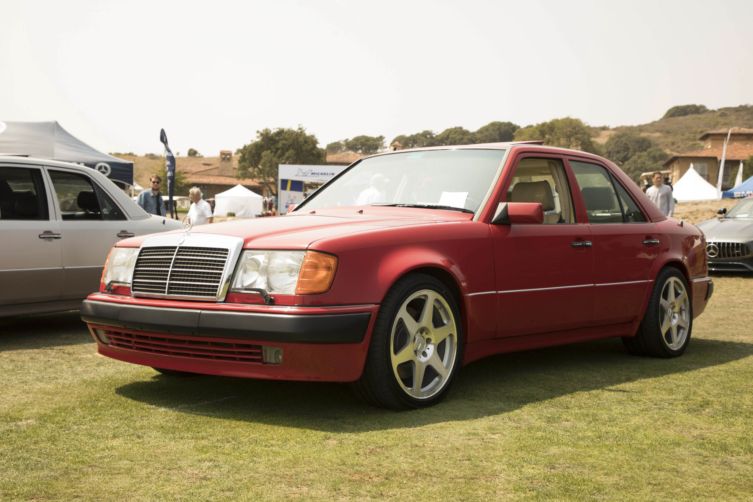 "No gathering of Autobahn Legends would be complete without the Porsche-built Mercedes-Benz 500E, which took the world by storm back in 1992. We particularly liked this red example, which won third in its class. As MC Cammisa pointed out, ""The 500E had to have those swollen front fenders, otherwise people might have mistaken it for nothing more than a German taxicab."""