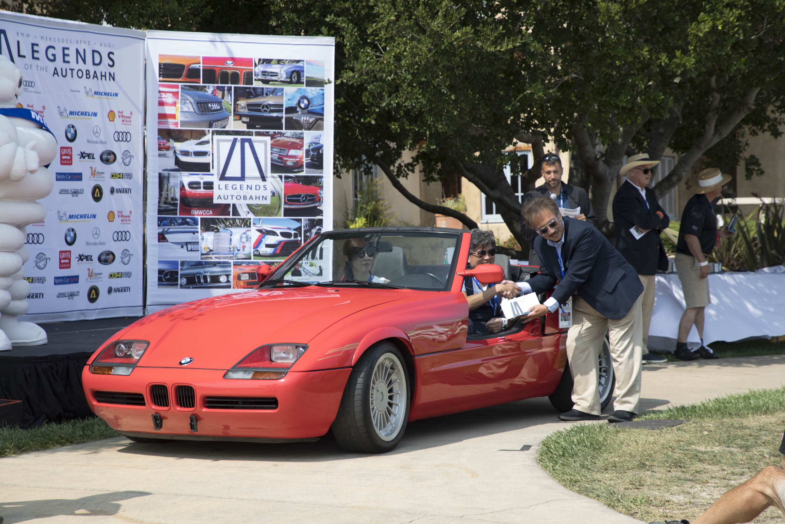 Hideki Akiba's 1991 Z1 took second place in the BMW Concours class. The Z1 was manufactured for only two years, 1989–91, and was based on the E30-chassis 325i sedan with an inline six and a five-speed manual. With plastic body panels and retractable—rather than swinging—doors, it's a surefire hit at any BMW gathering.