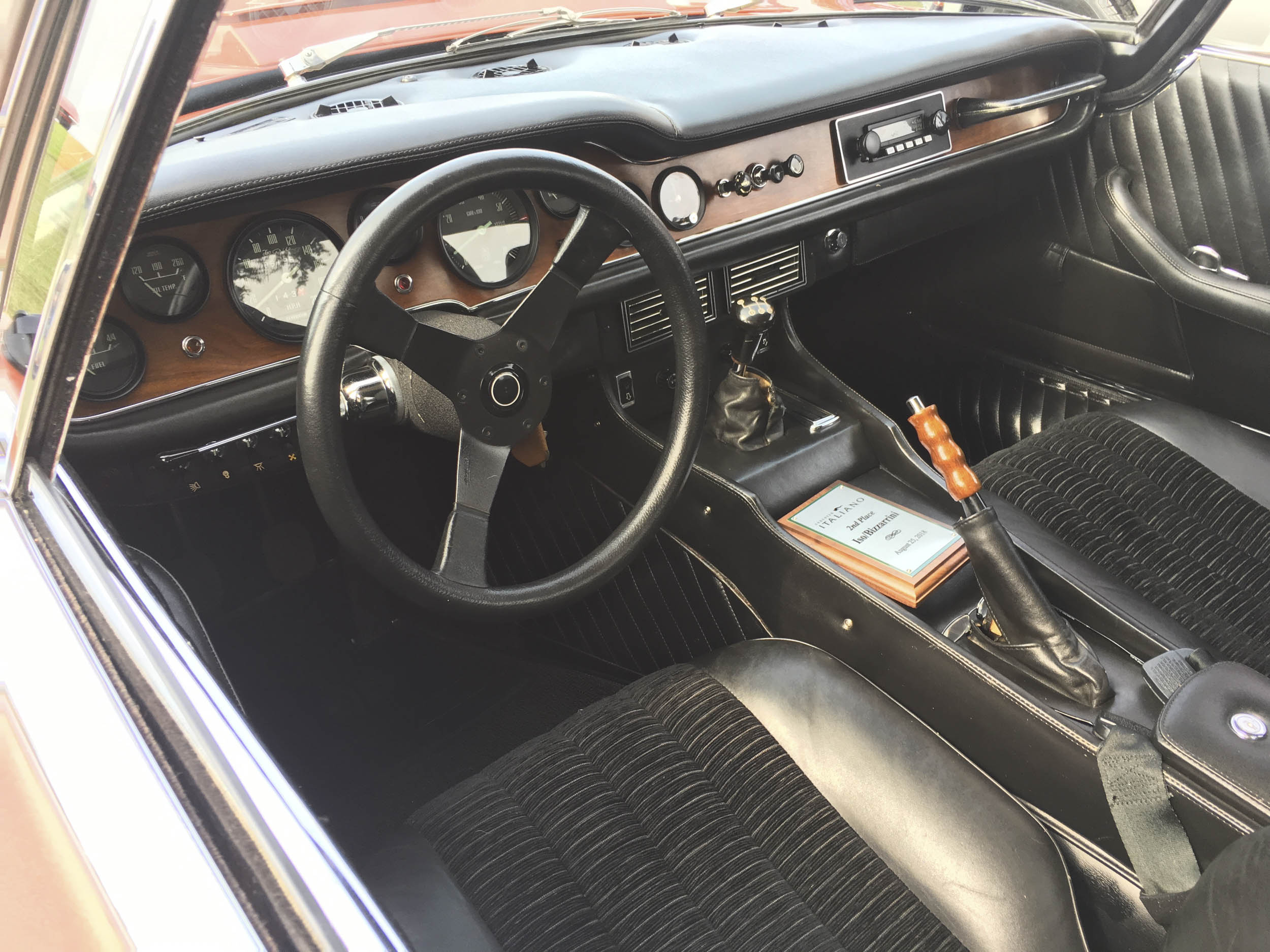 1974 Iso Grifo interior
