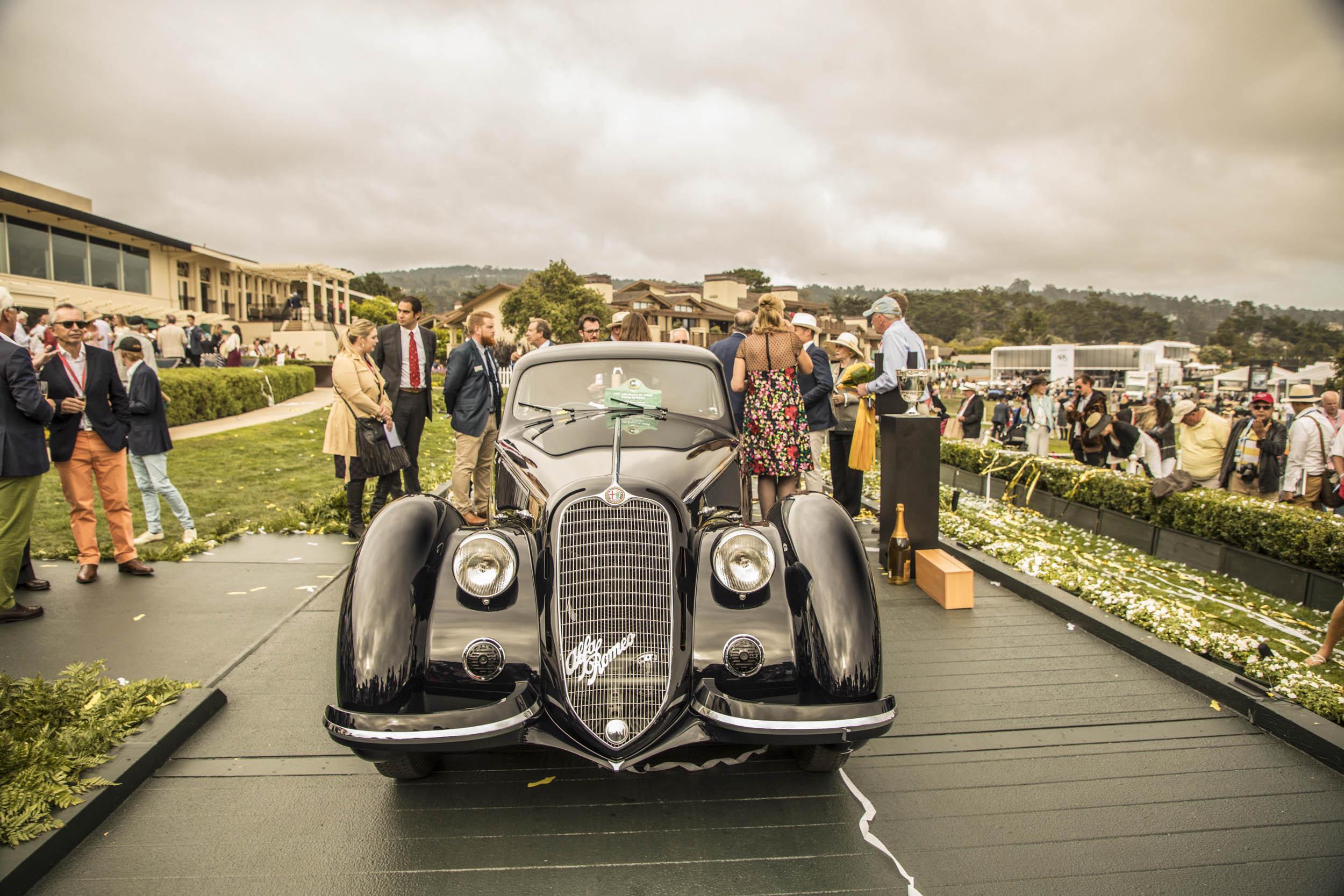 1937 Alfa Romeo 8C Pebble Beach Concours d'Elegance