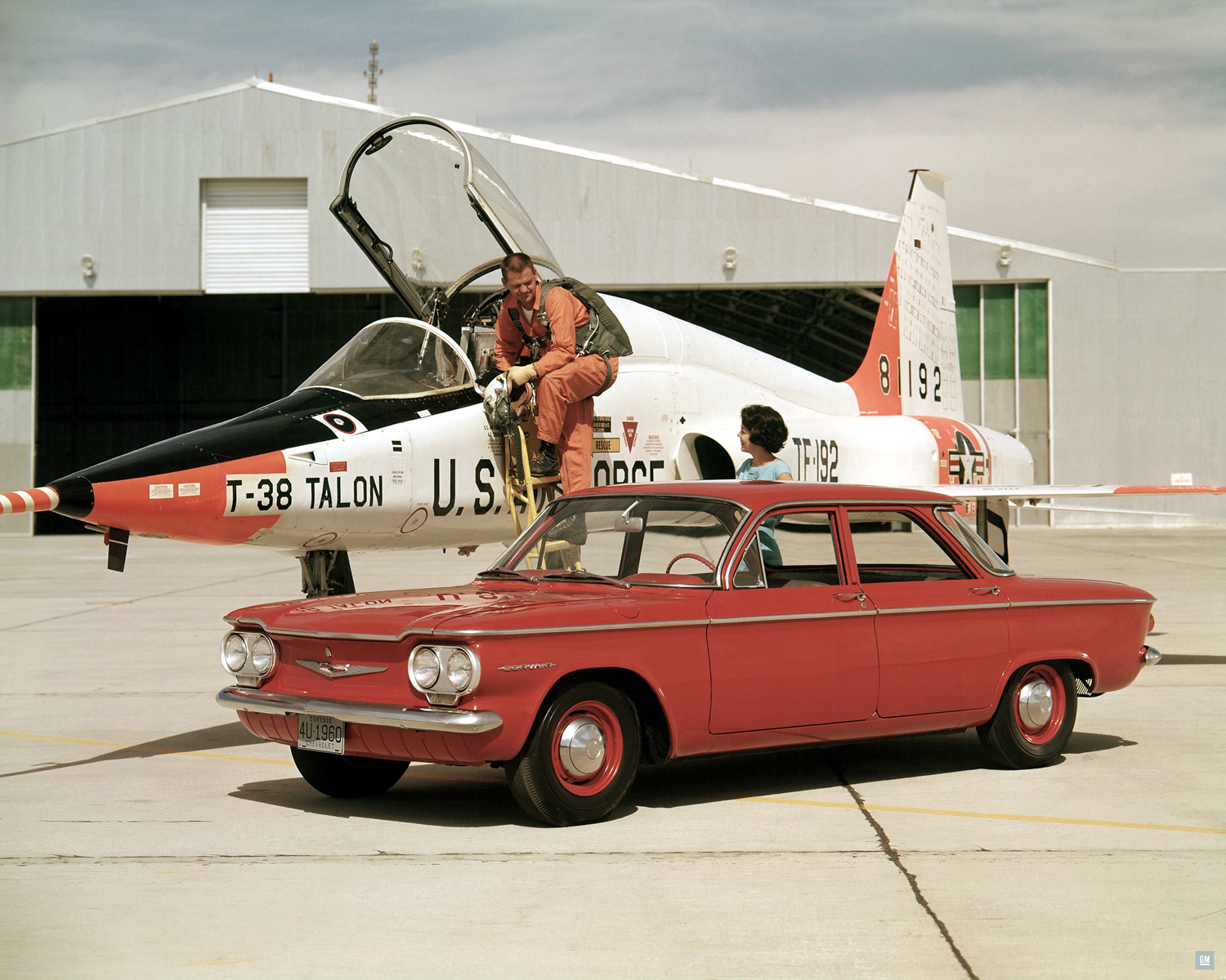 Chevrolet Corvair with jet