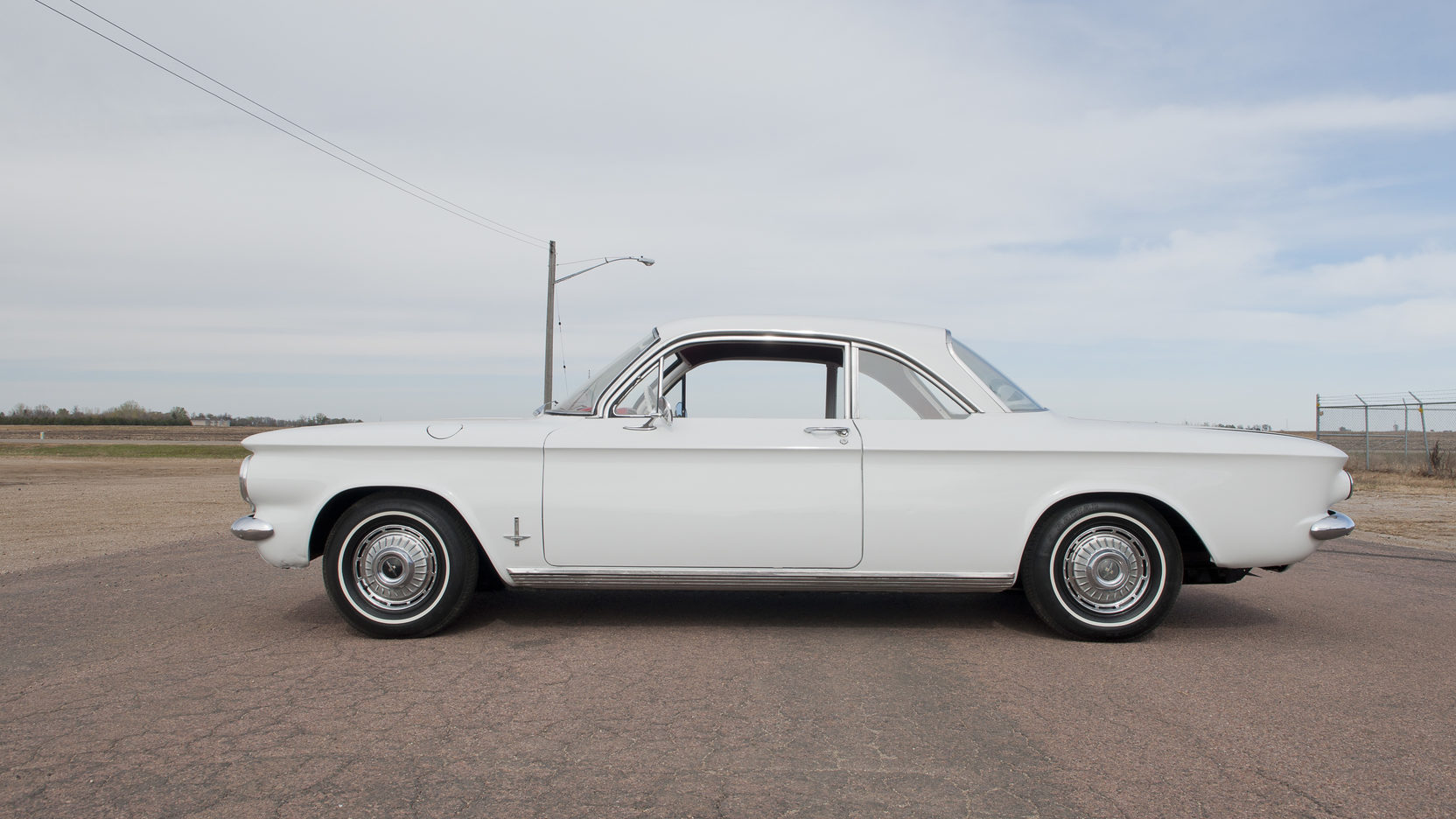 Chevrolet Corvair white side profie