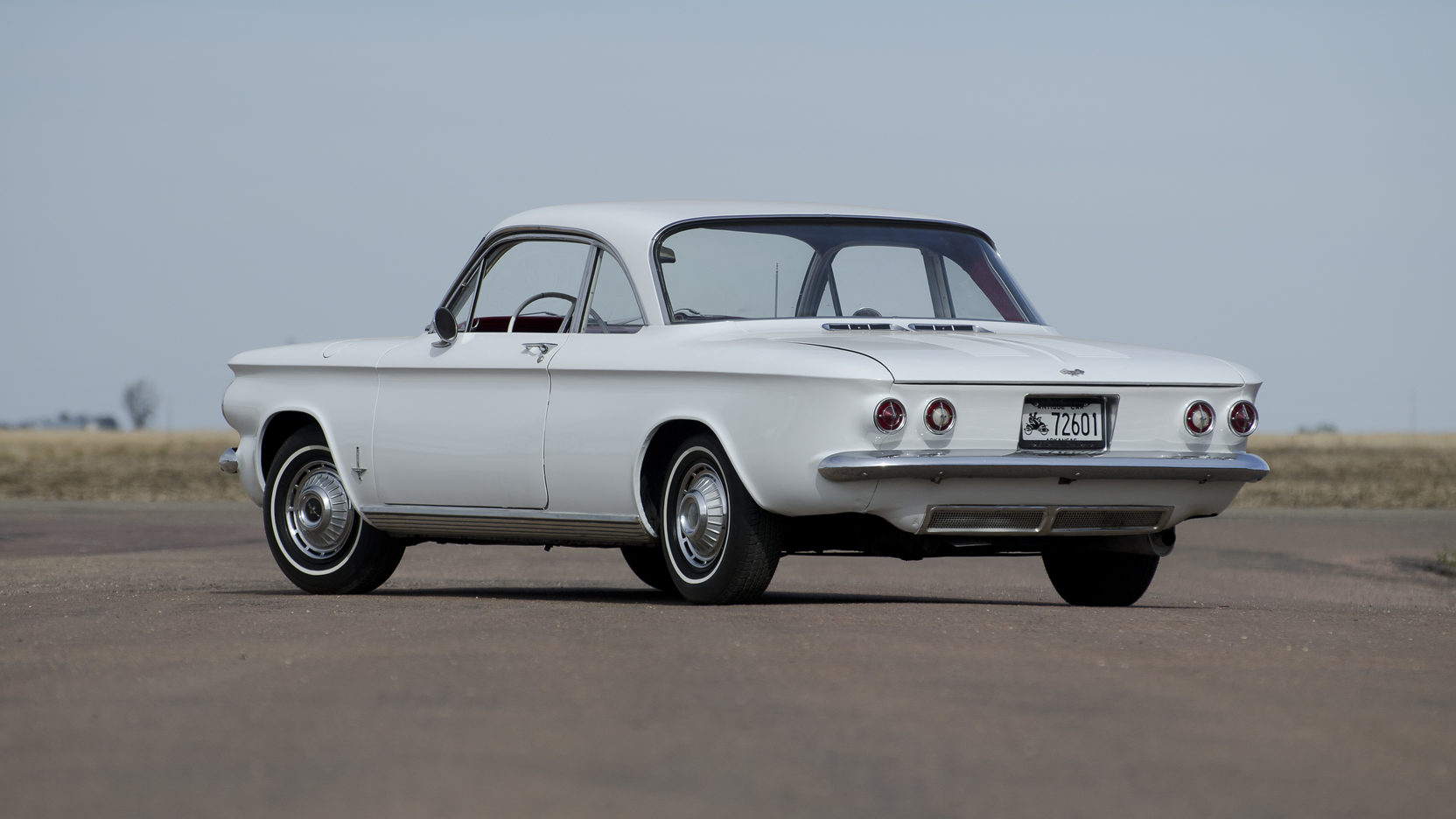 Chevrolet Corvair white rear 3/4