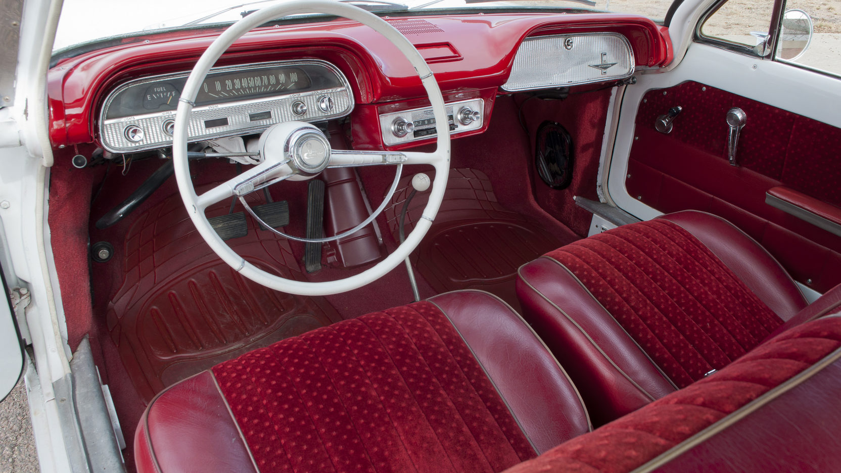 Chevrolet Corvair interior red