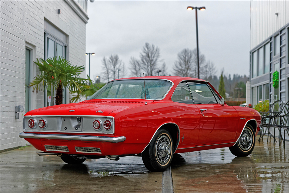 1965 Chevrolet Corvair Corsa rear 3/4