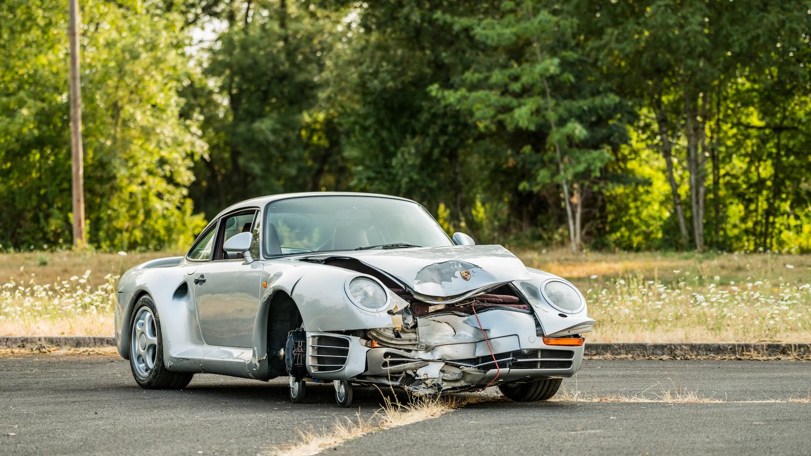 1987 Porsche 959 Komfort passenger 3/4 wreck