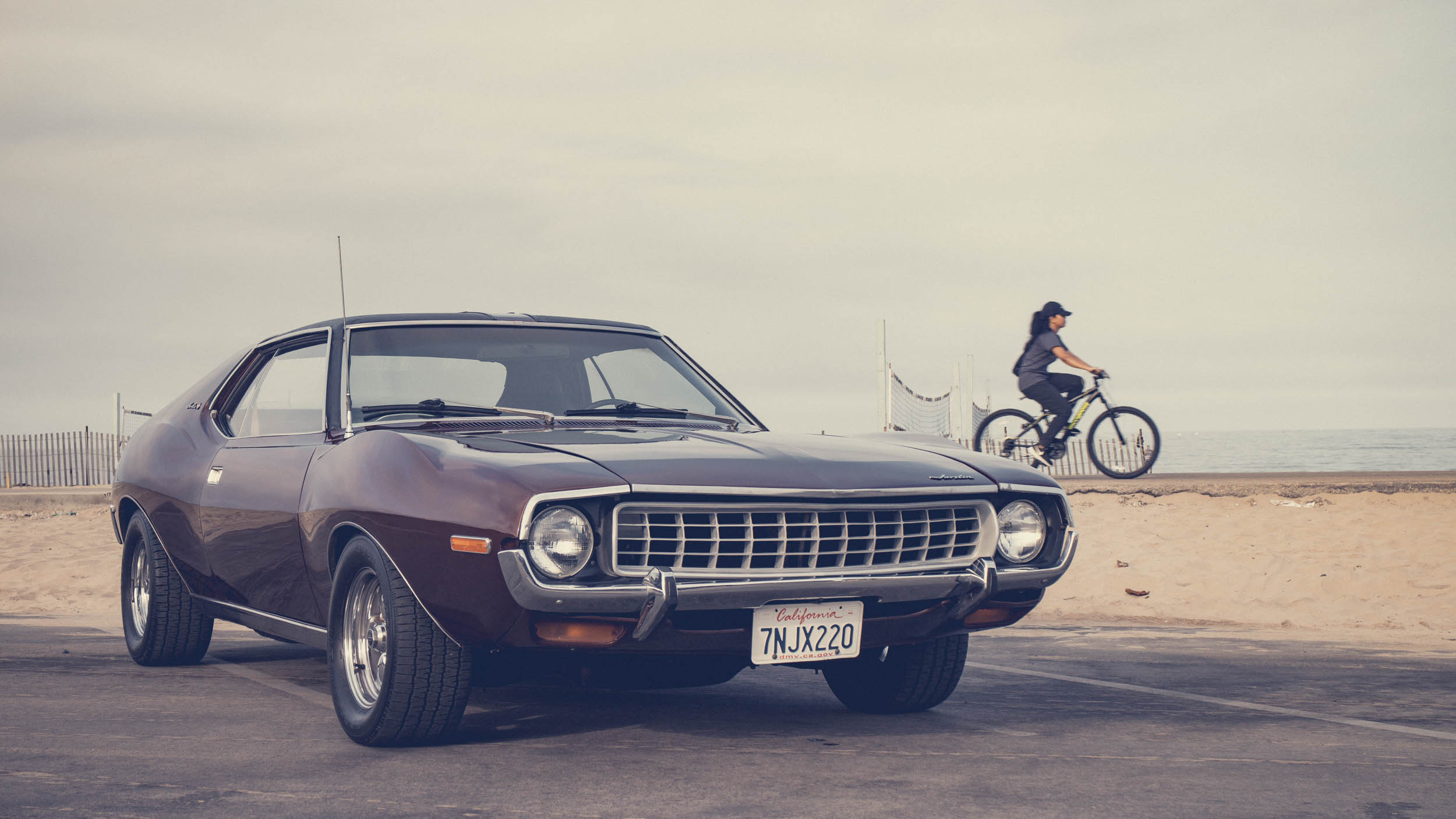1972 AMC Javelin SST at the beach