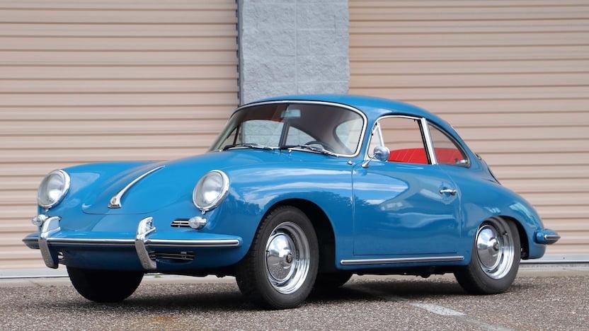 1963 Porsche 356B blue 3/4 front