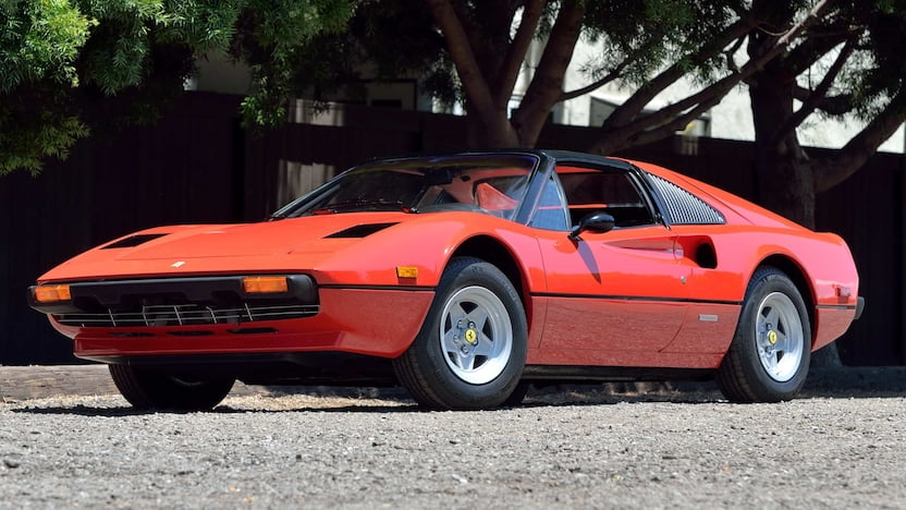 1978 Ferrari 308 GTS red 3/4 front low