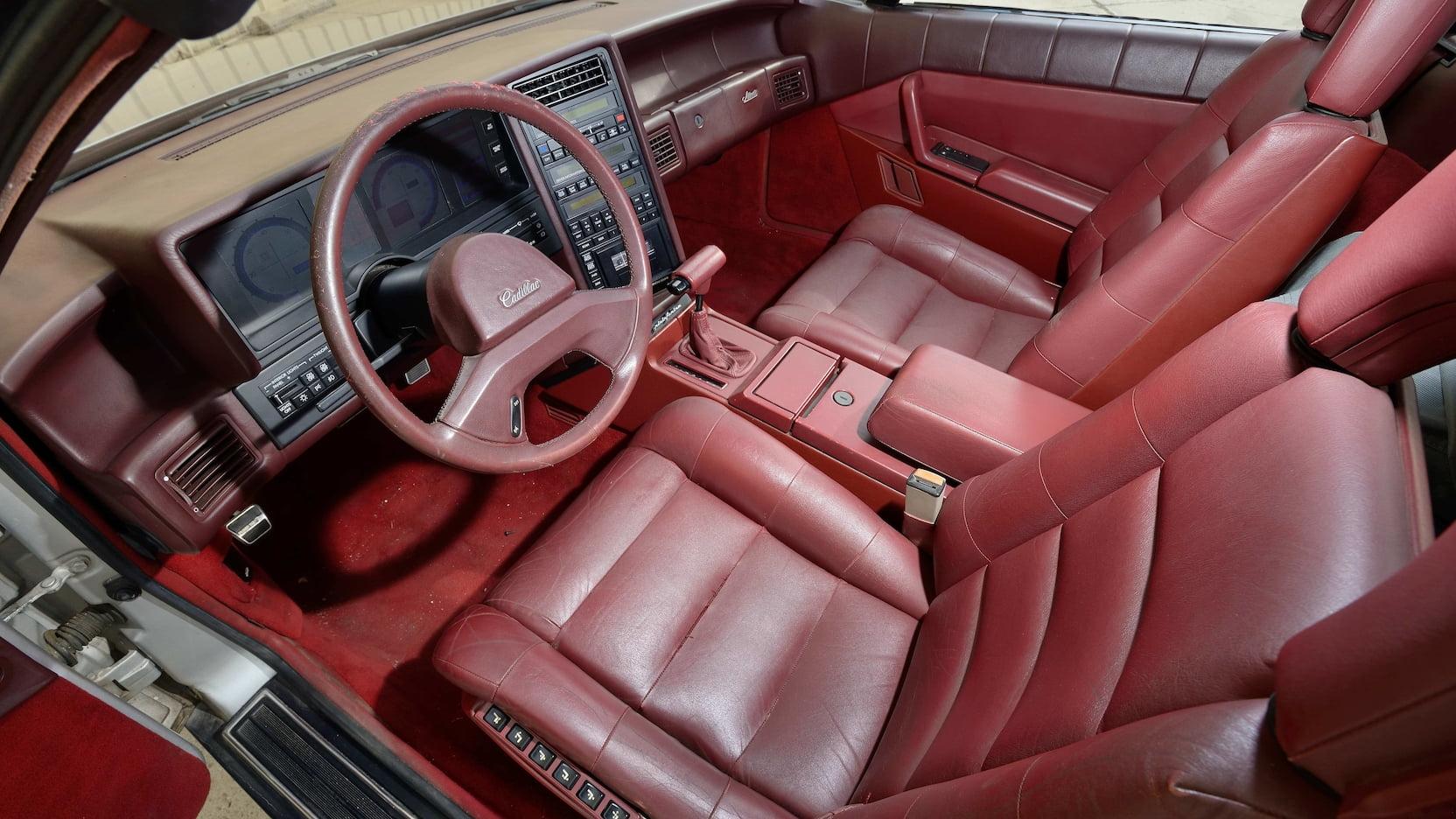 1987 Cadillac Allante interior seats
