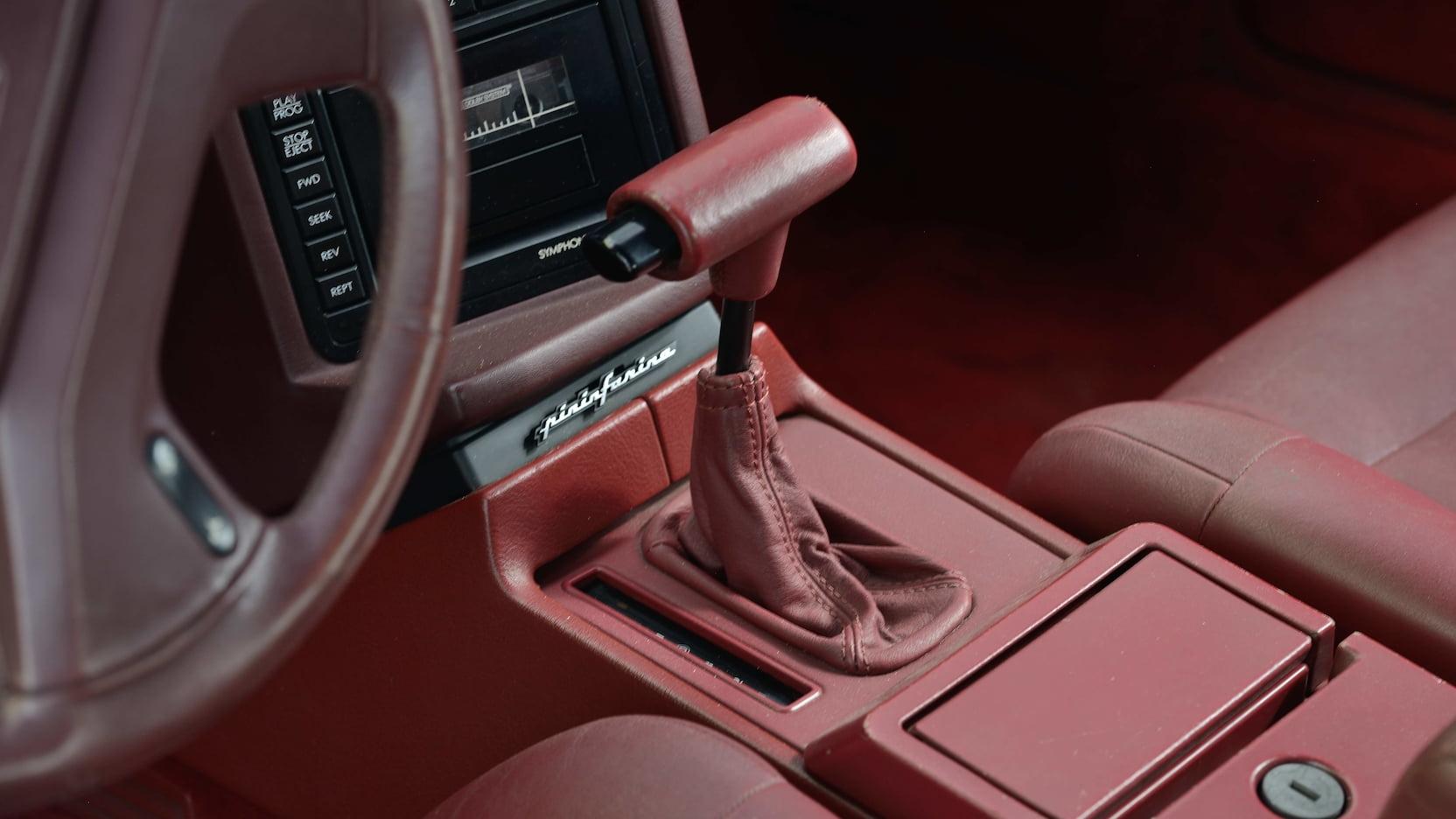 1987 Cadillac Allante shifter
