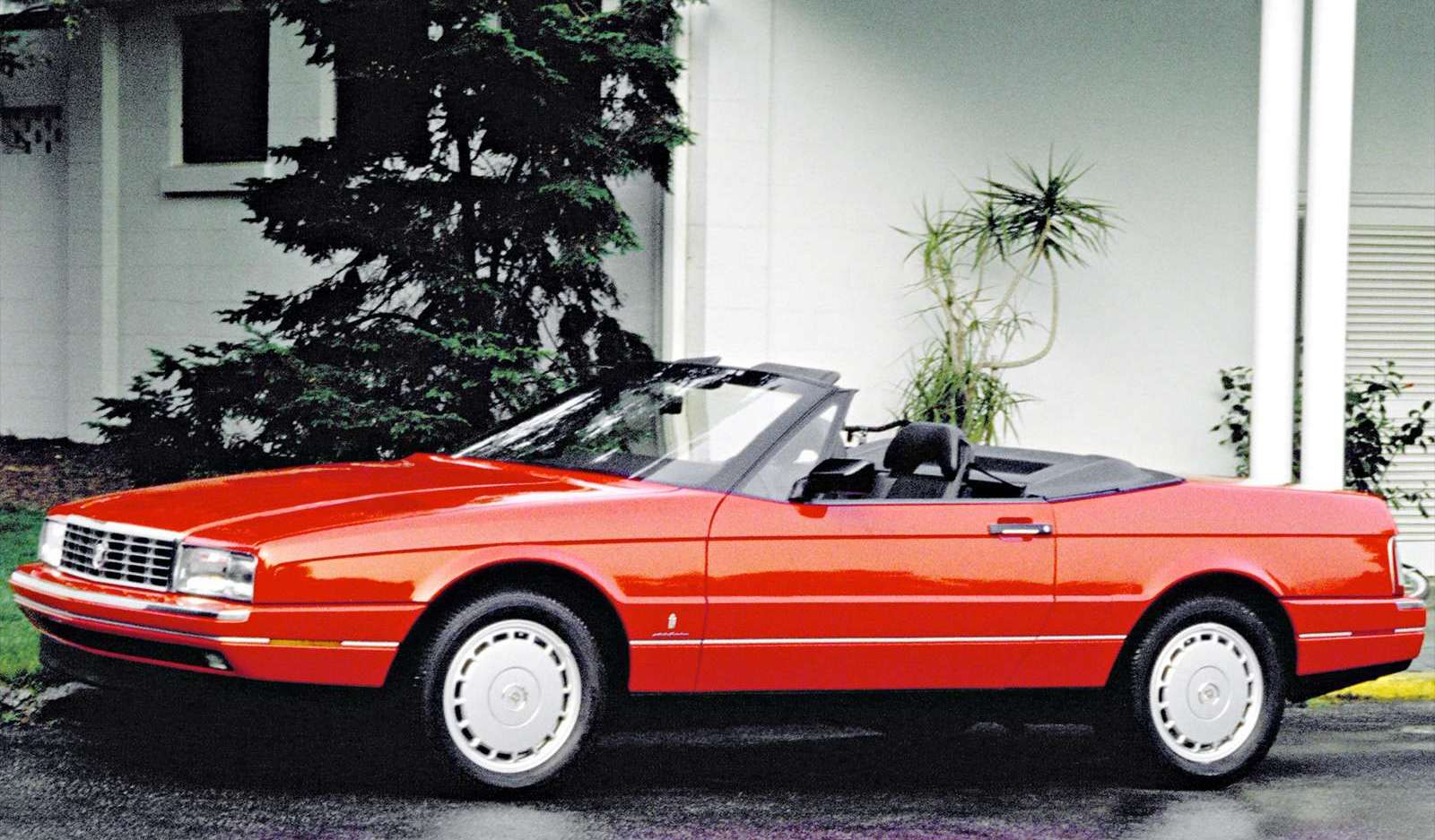 1989 Cadillac Allante red convertible