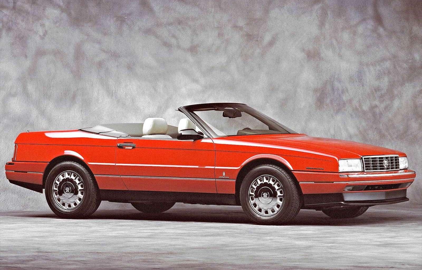 1989 Cadillac Allante red converitble