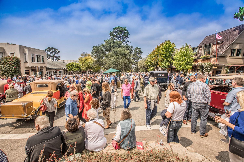 2018 Pebble Beach Tour town square