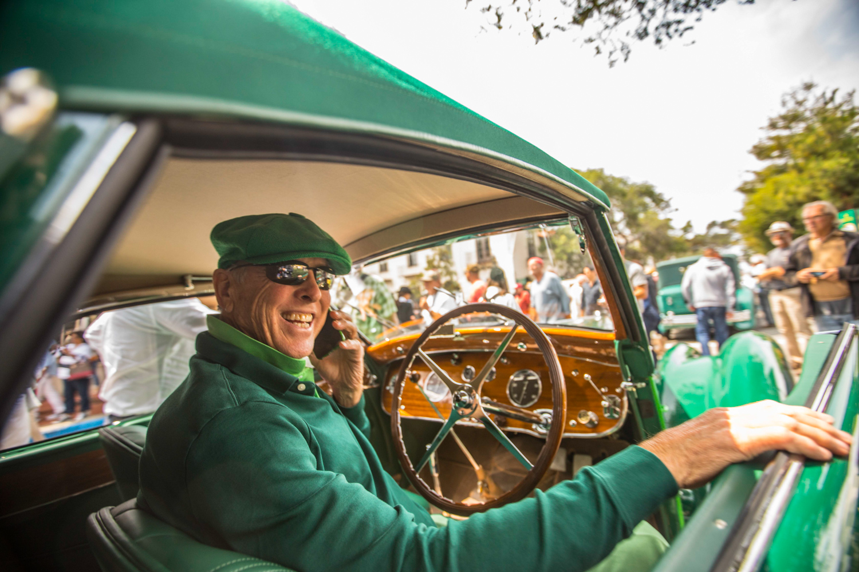 2018 Pebble Beach Tour bugatti driver