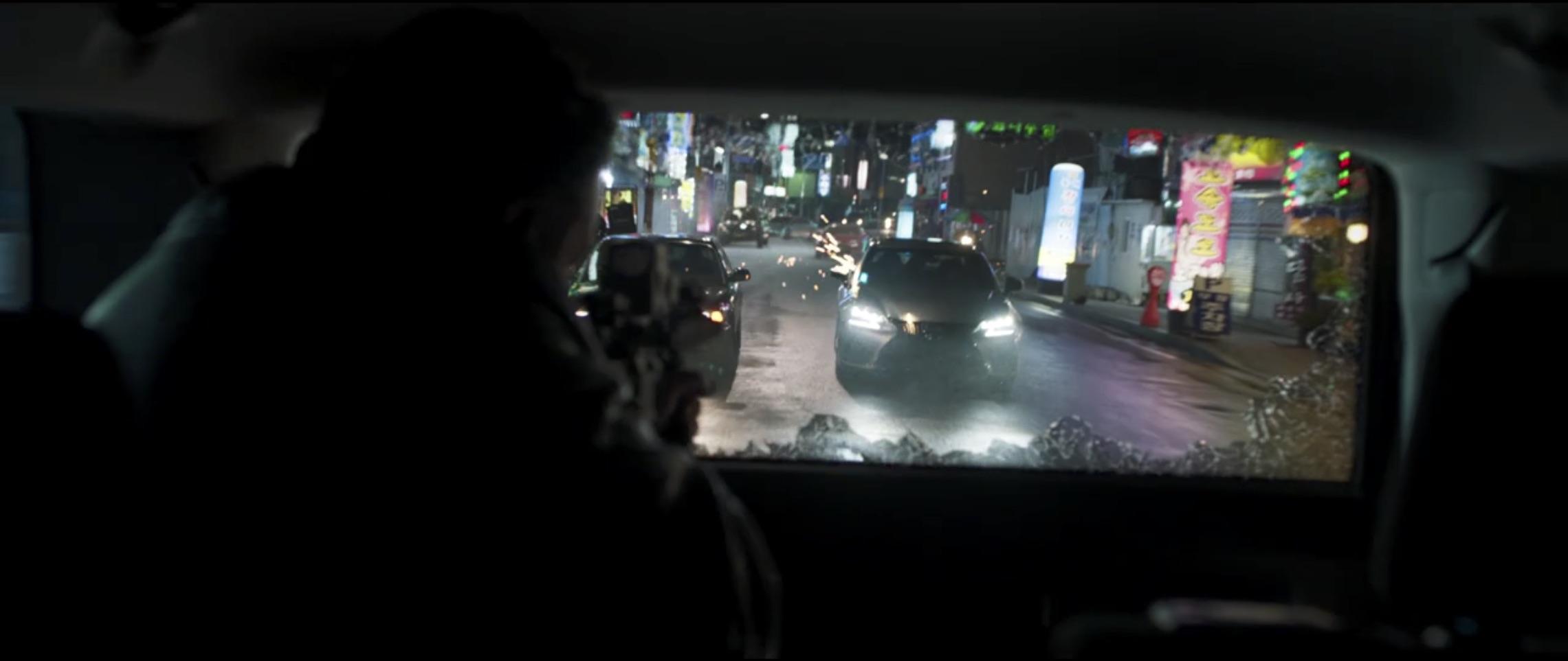 Marvel Black Panther shooting at car chase scene