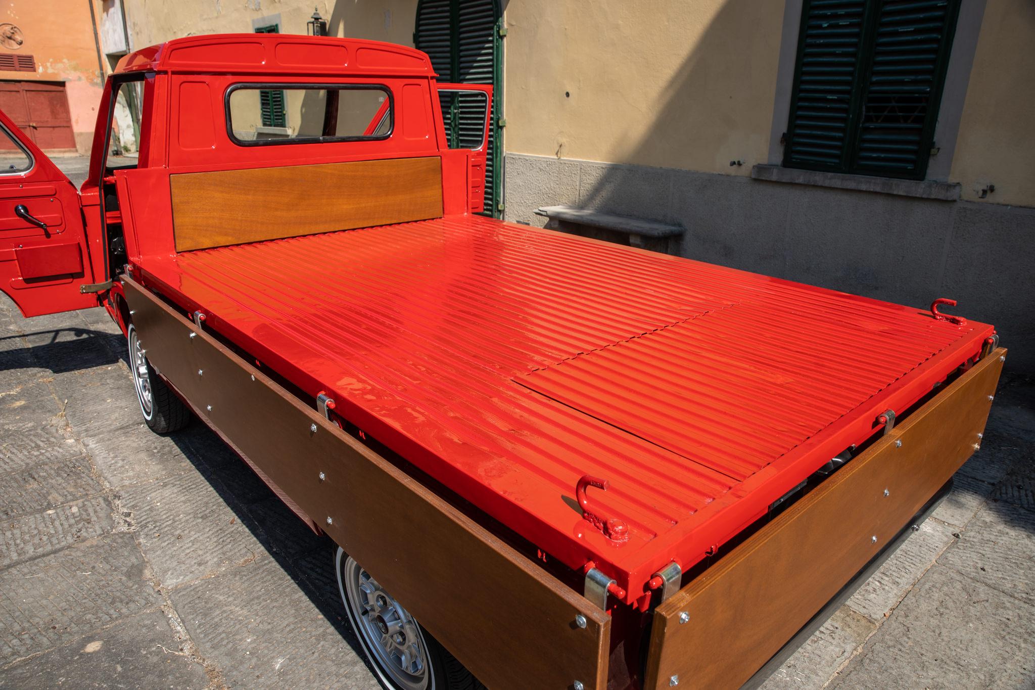 1977 Fiat 900 Coriasco Pickup sides down