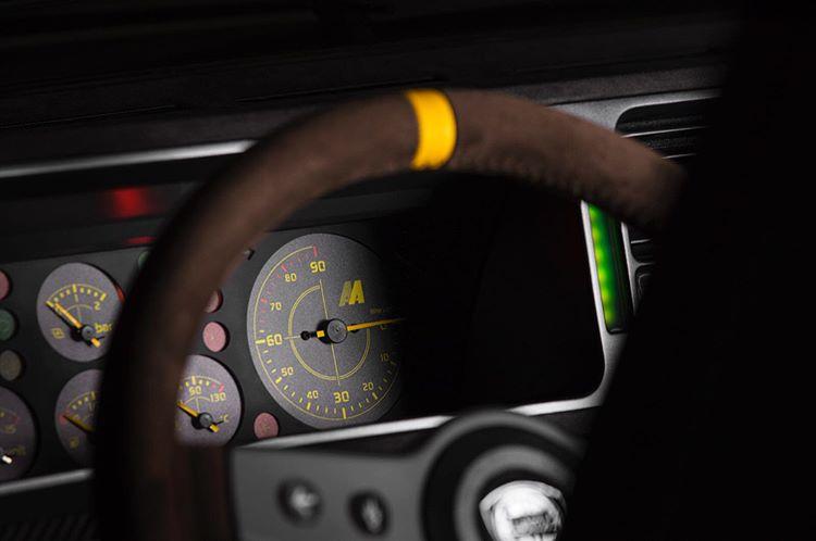 Lancia Delta Futurista steering wheel