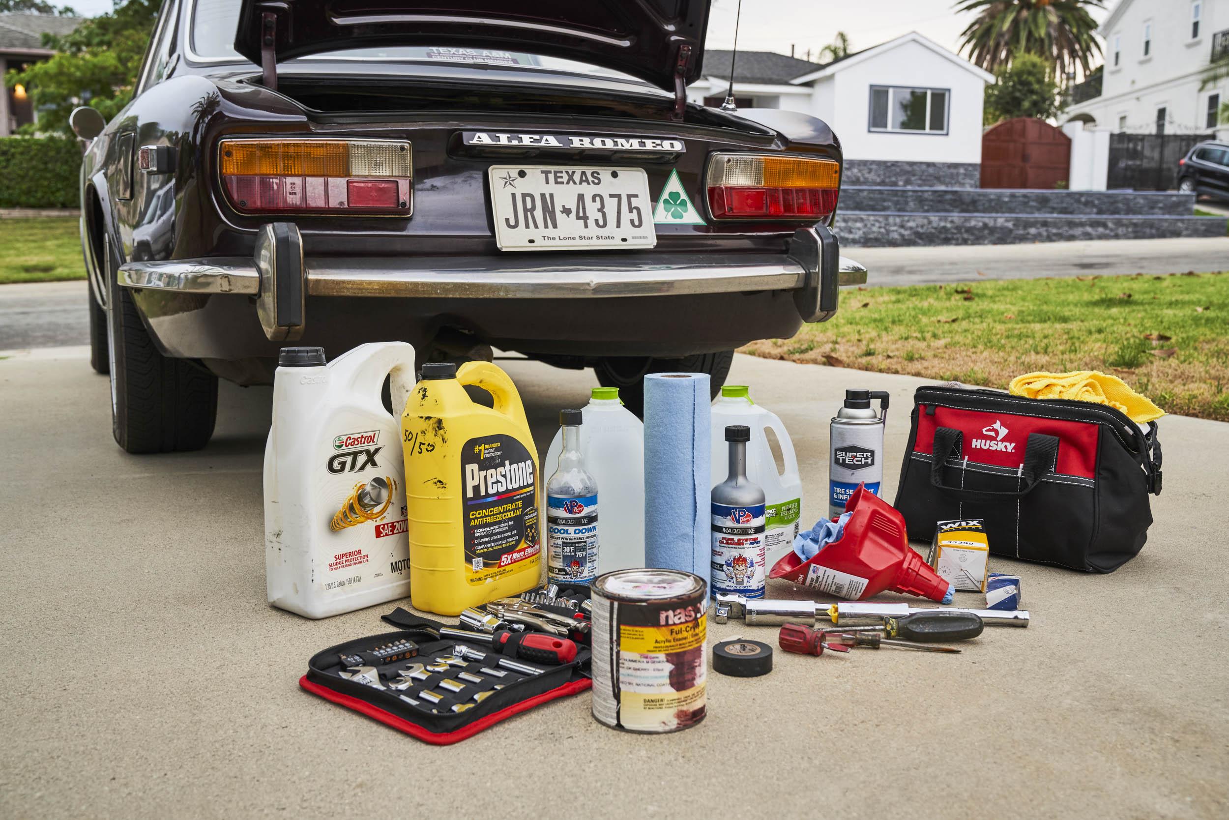 1974 Alfa Romeo GTV 2000 road trip essentials