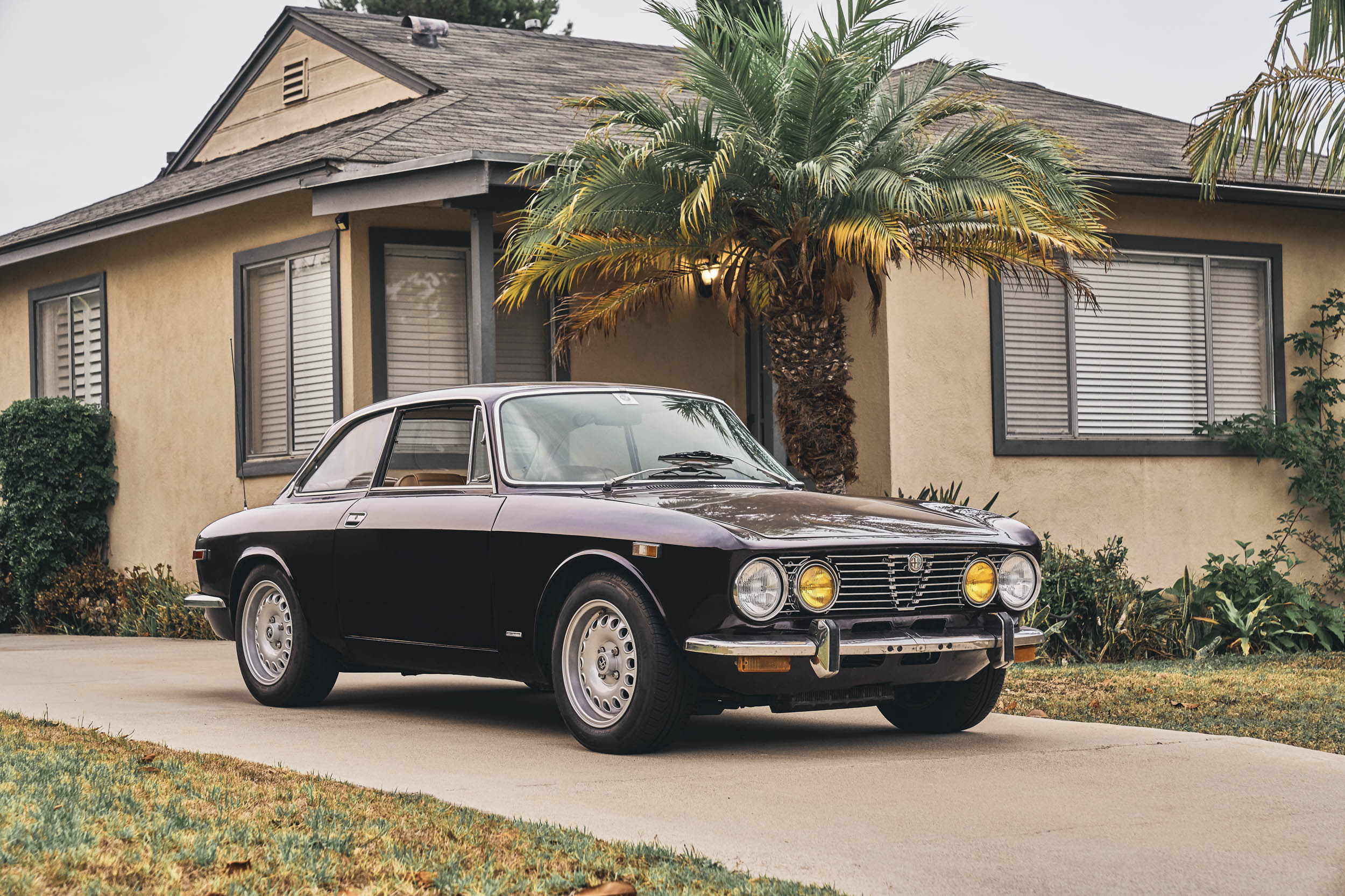 1974 Alfa Romeo GTV 2000 in the driveway