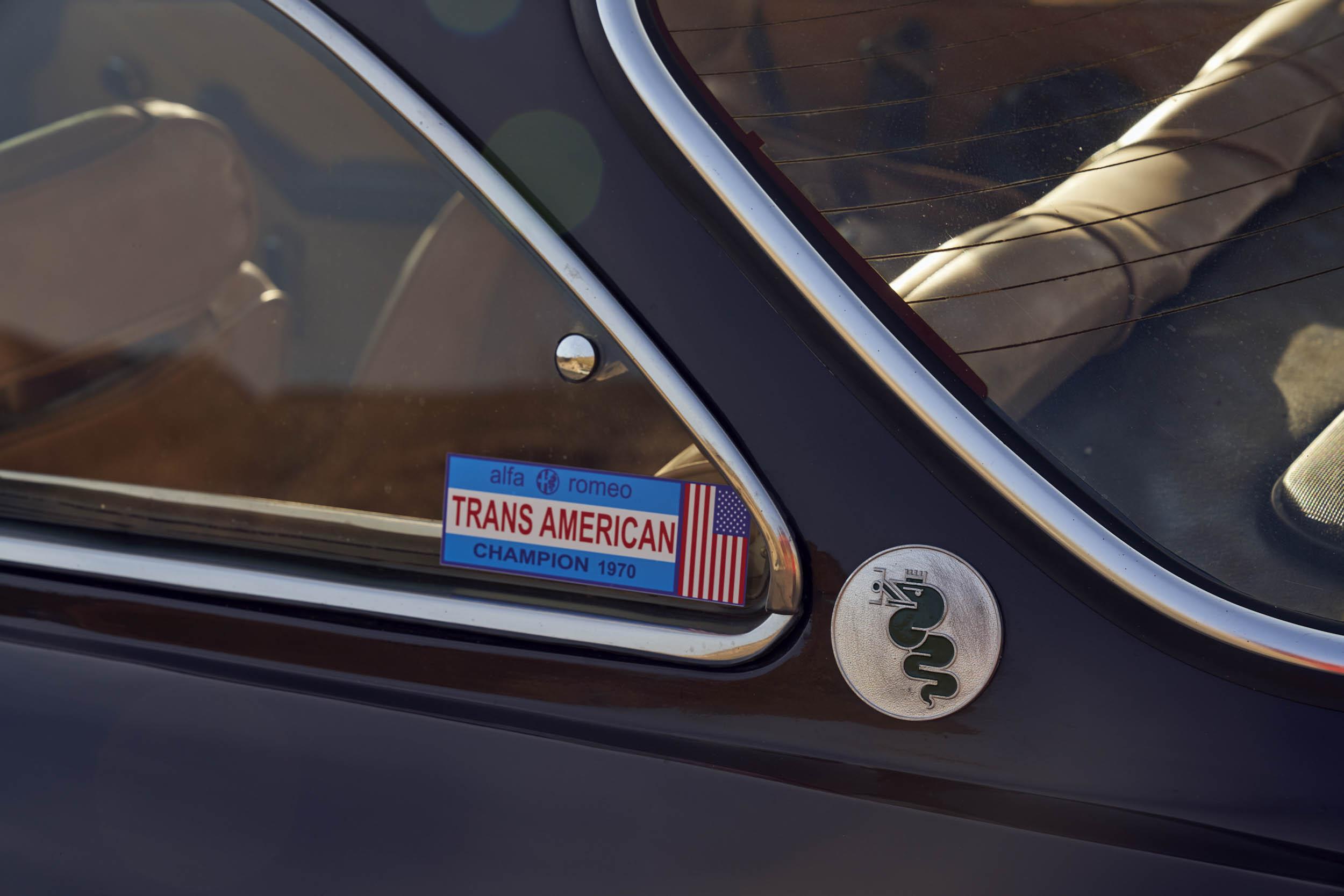 1974 Alfa Romeo GTV 2000 window detail