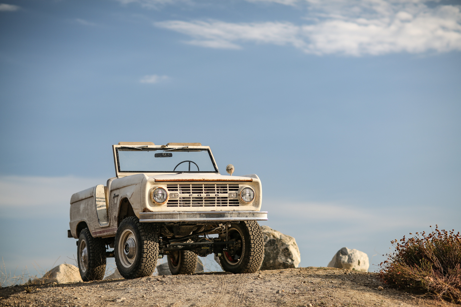1966 Icon Derelict Bronco hill with rocks