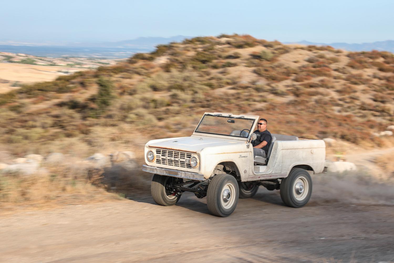 1966 Icon Derelict Bronco on dirt road