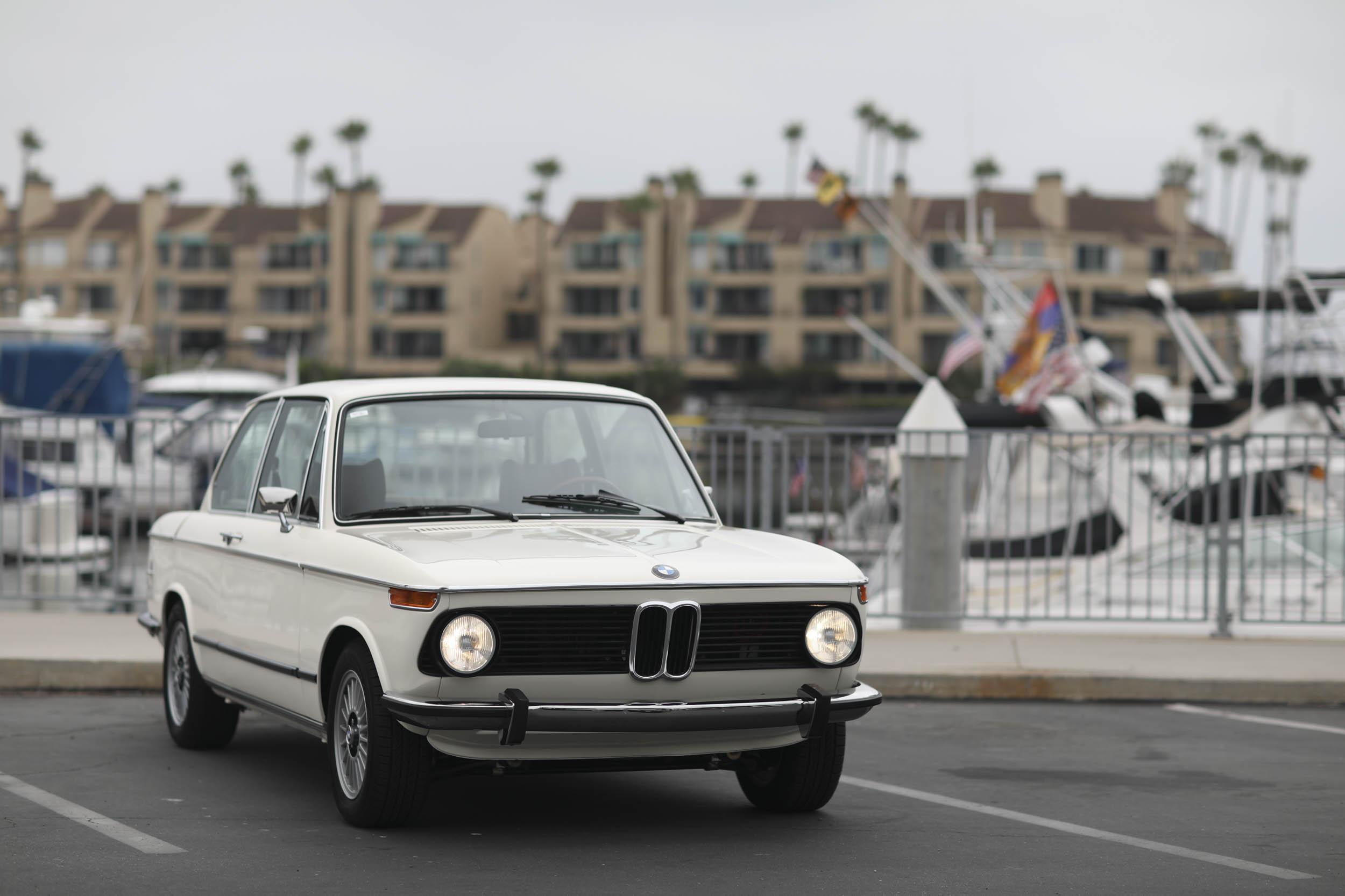 1975 BMW 2002 headlights on