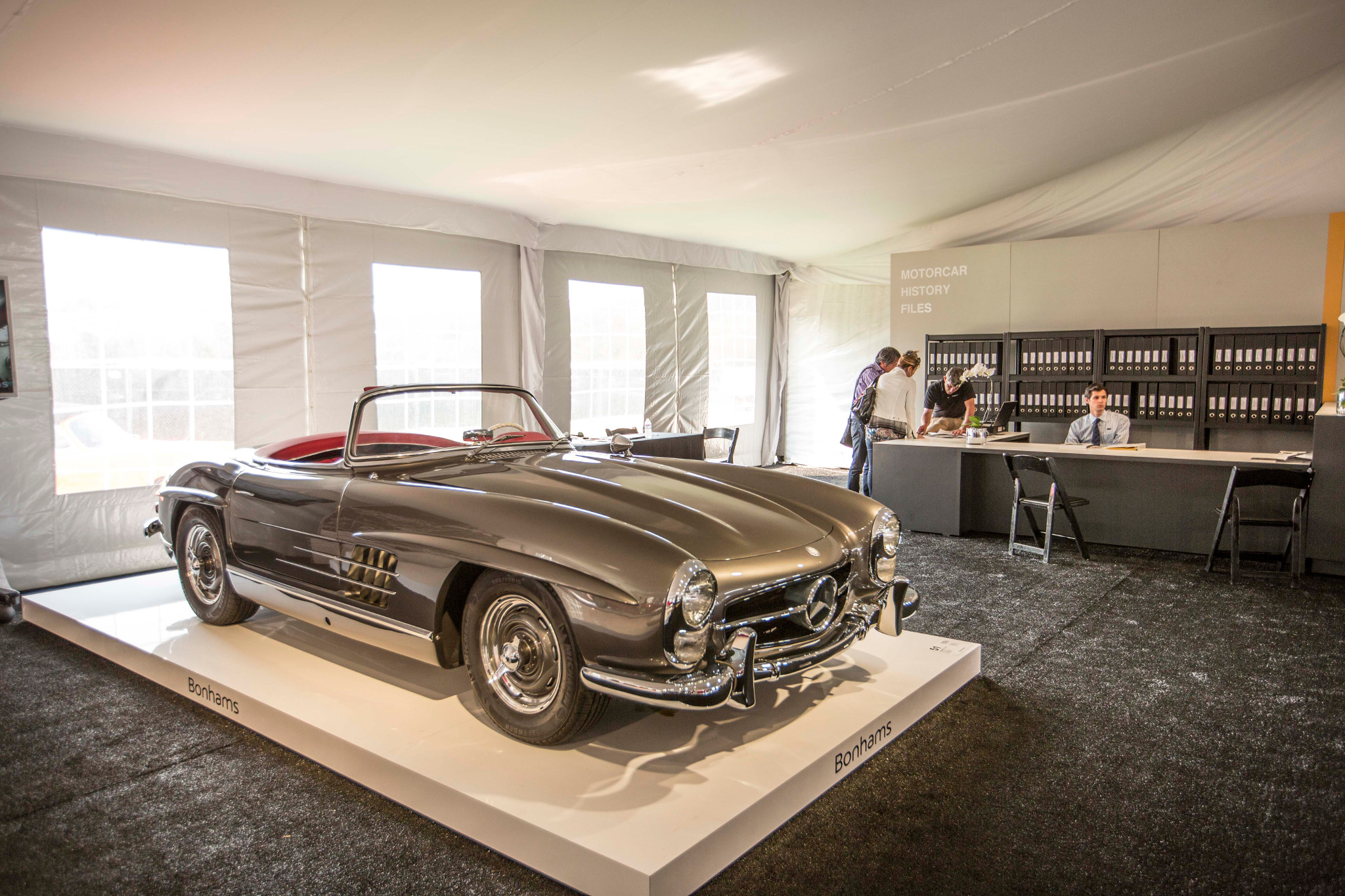 Bonhams pebble beach quail lodge mercedes 300 sl