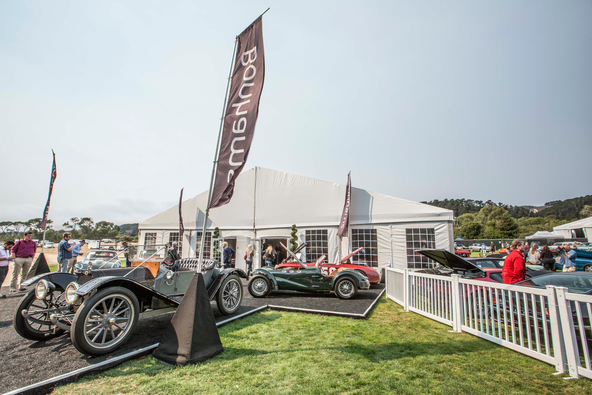 Bonhams pebble beach quail lodge tent banner