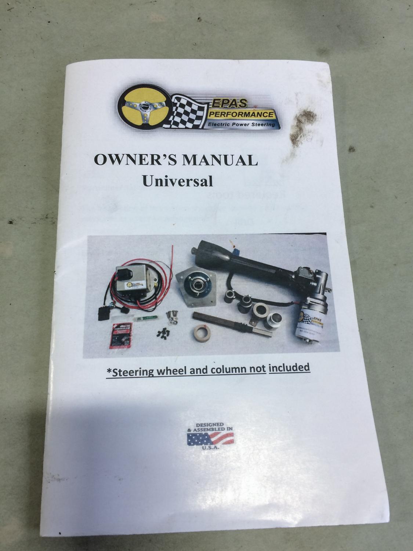 EPAS Classic Car Power Steering manual