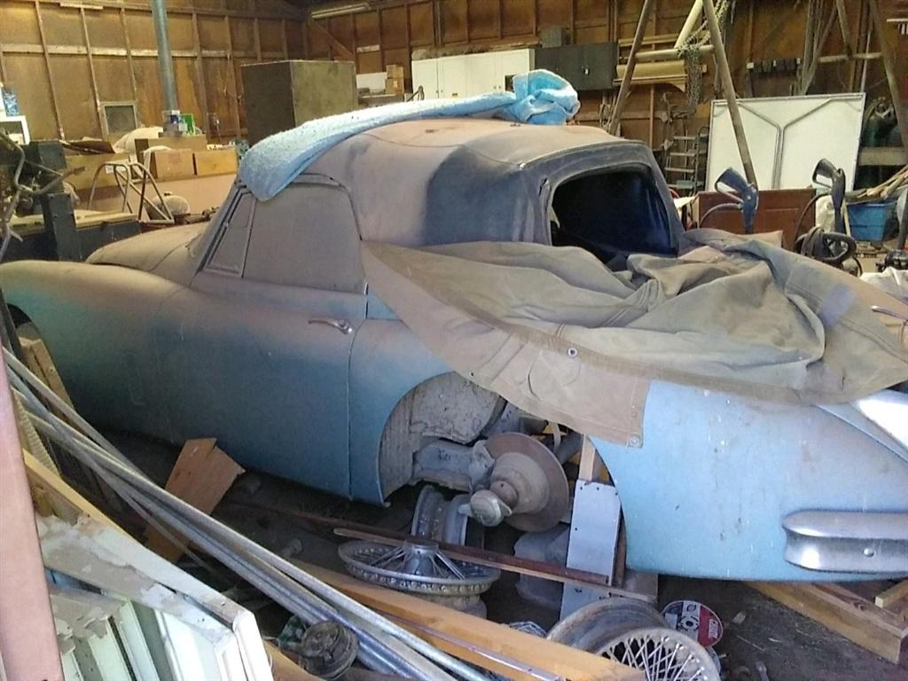 1961 Jaguar XK150 barn find