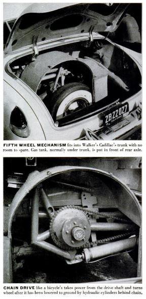 fifth wheel parking device