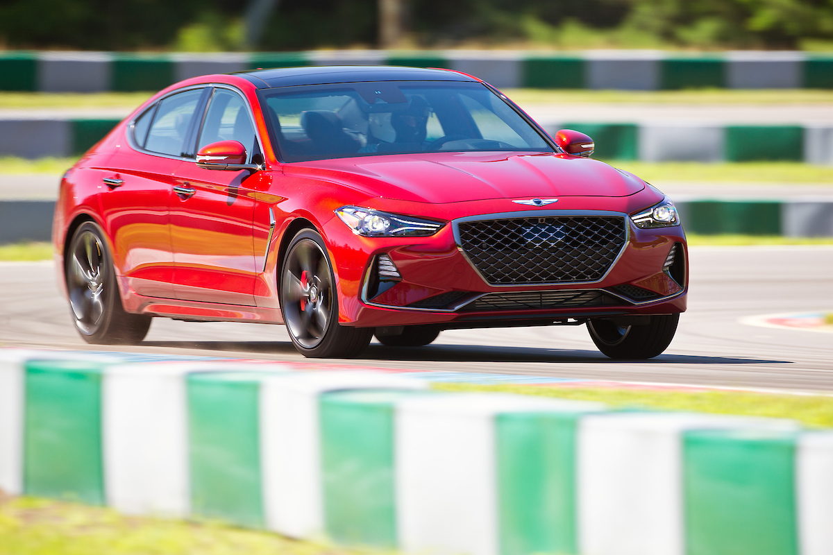 red on track 2019 Genesis G70