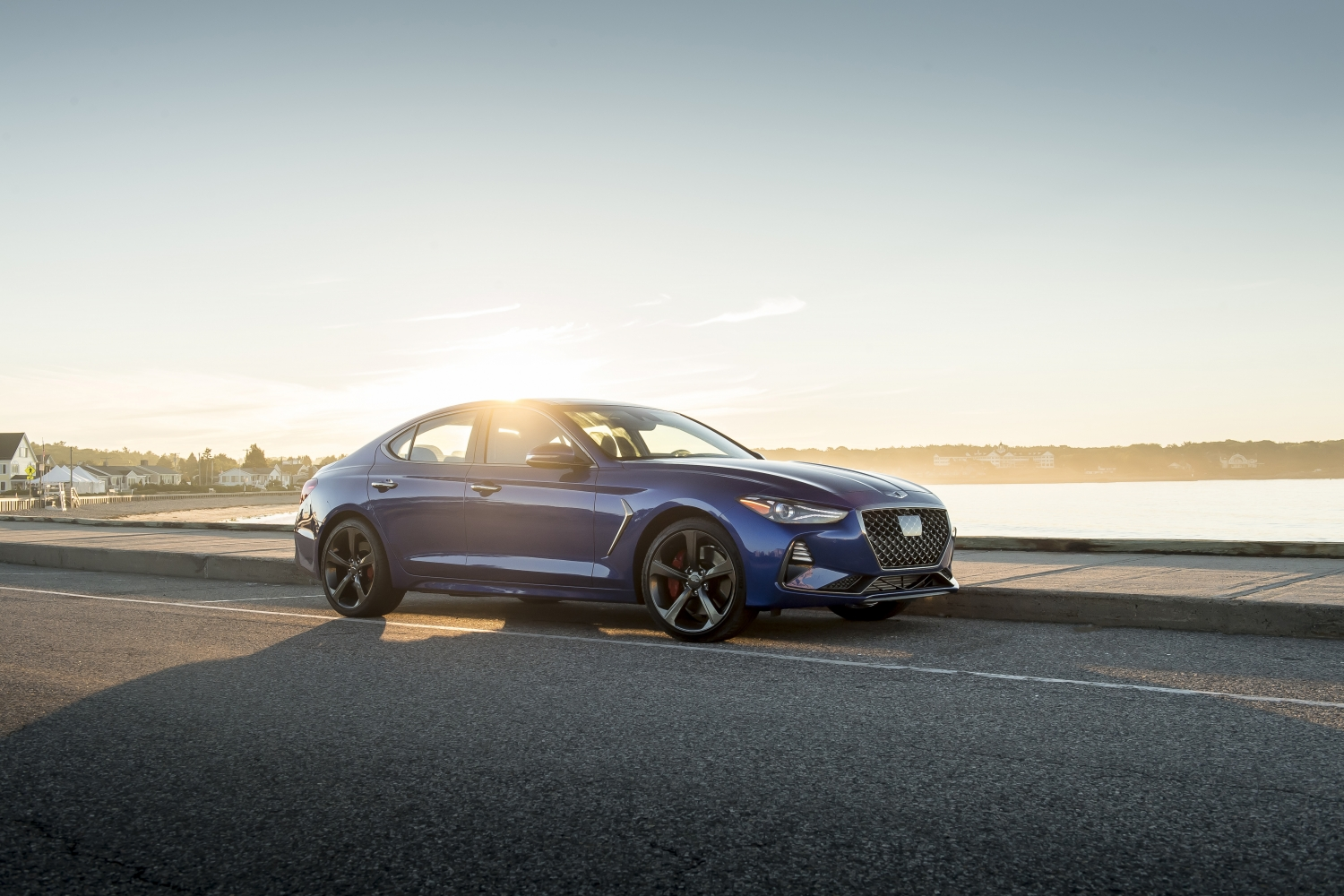 2019 Genesis G70 blue sunset