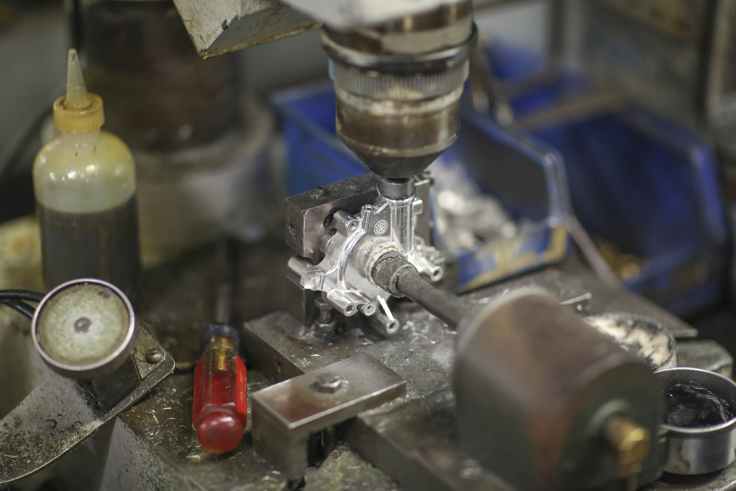 Holley four-barrel carburetor machining
