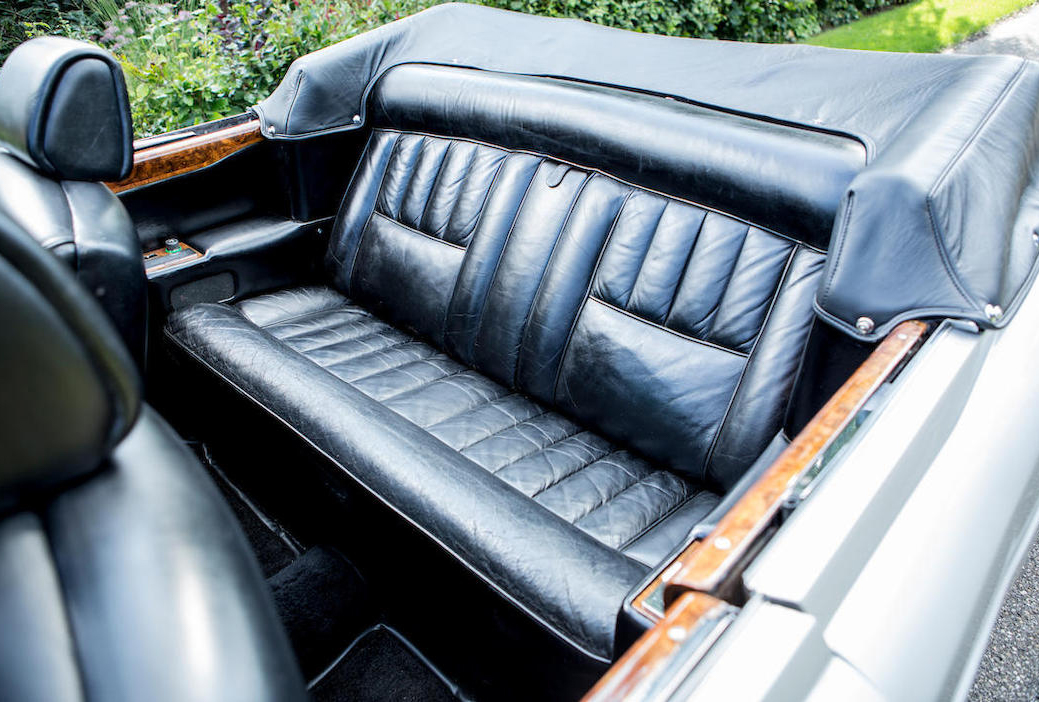 1970 Rolls-Royce Silver Shadow Convertible rear seat