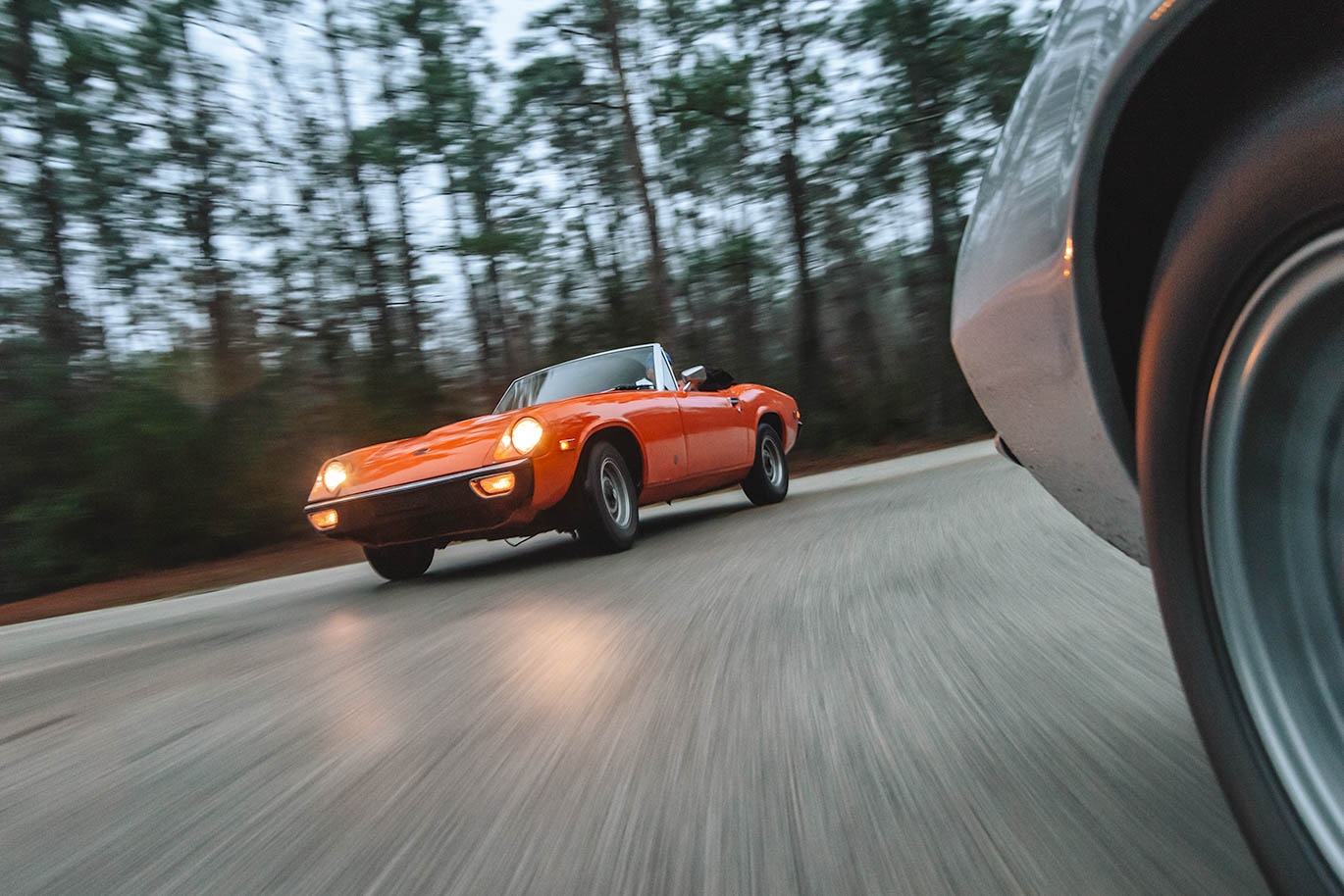 The Jensen-Healey was powered by a Lotus twin-cam four that accelerated the 2100-pound roadster to 60 in 8.1 seconds.